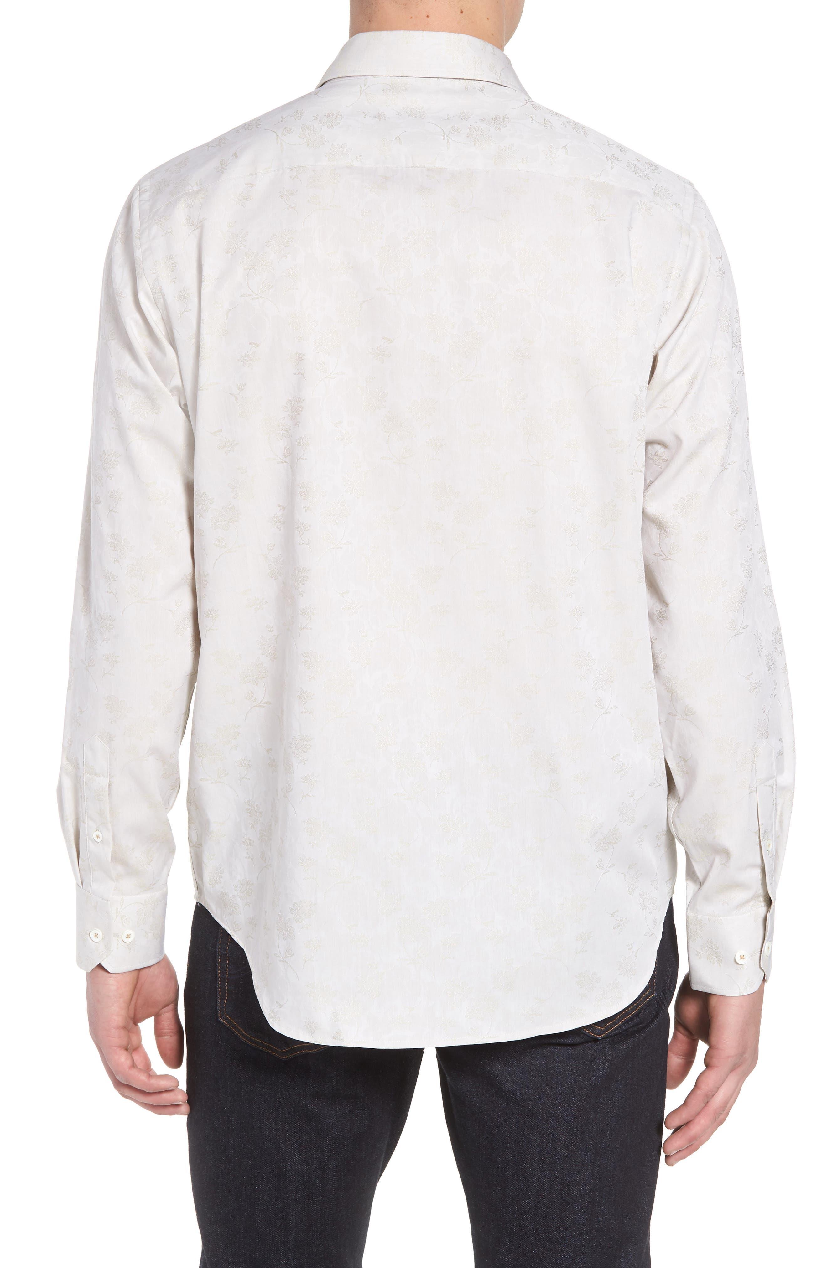 Classic Fit Woven Sport Shirt,                             Alternate thumbnail 2, color,                             Sand
