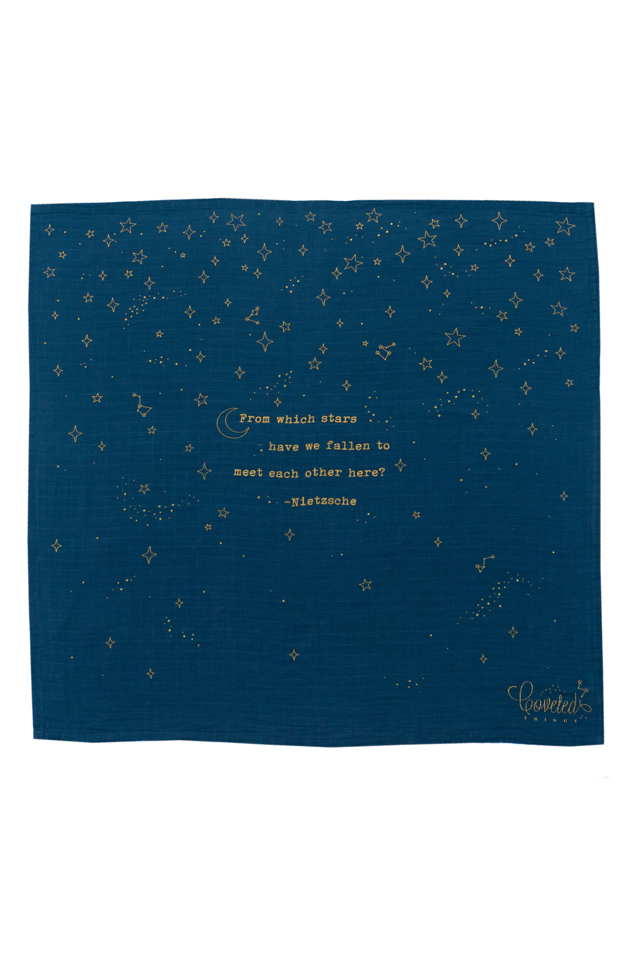 Stars Organic Cotton Swaddle Cloth,                         Main,                         color, Navy Blue