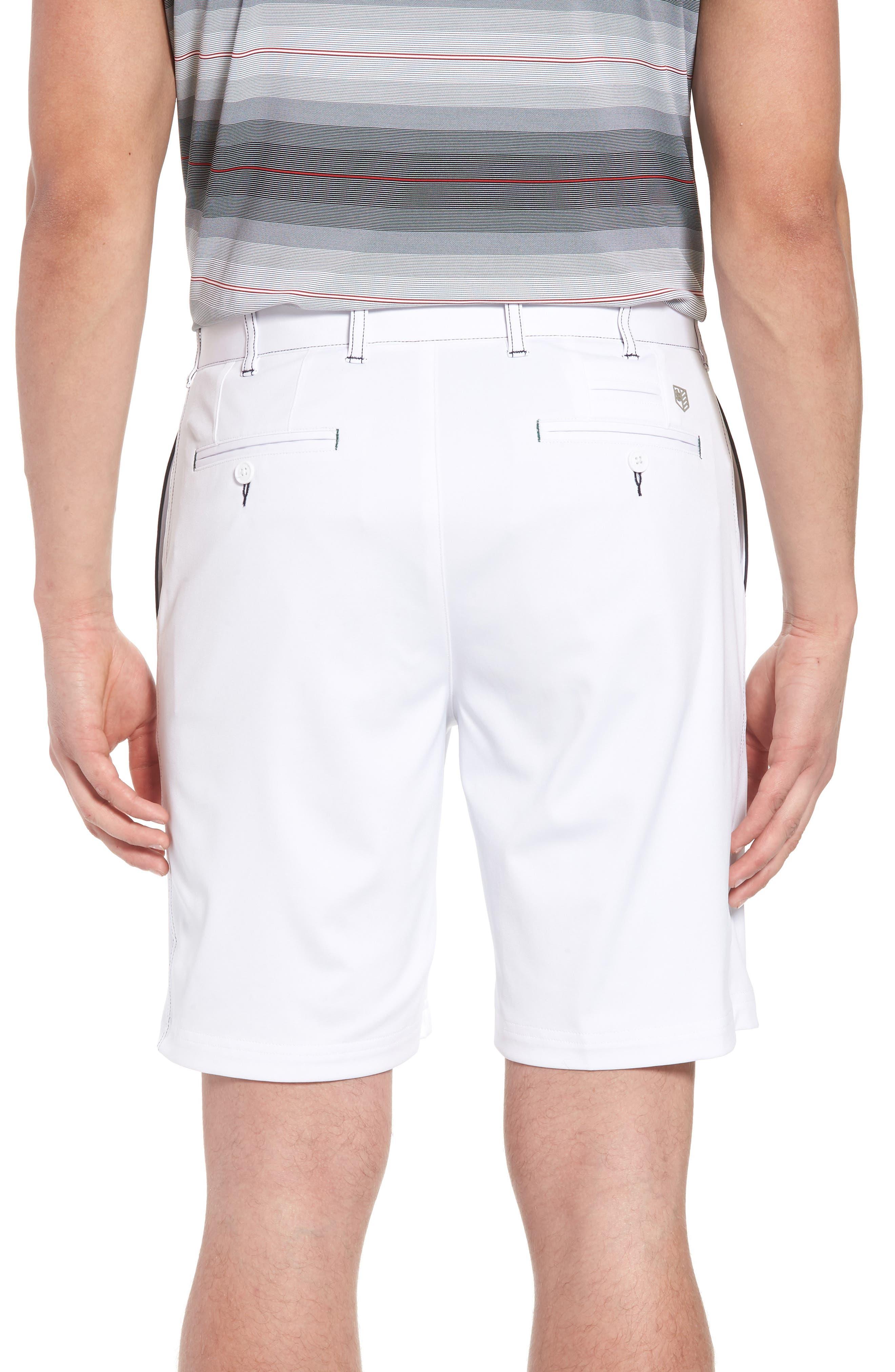 Trim Fit Tech Chino Shorts,                             Alternate thumbnail 2, color,                             White