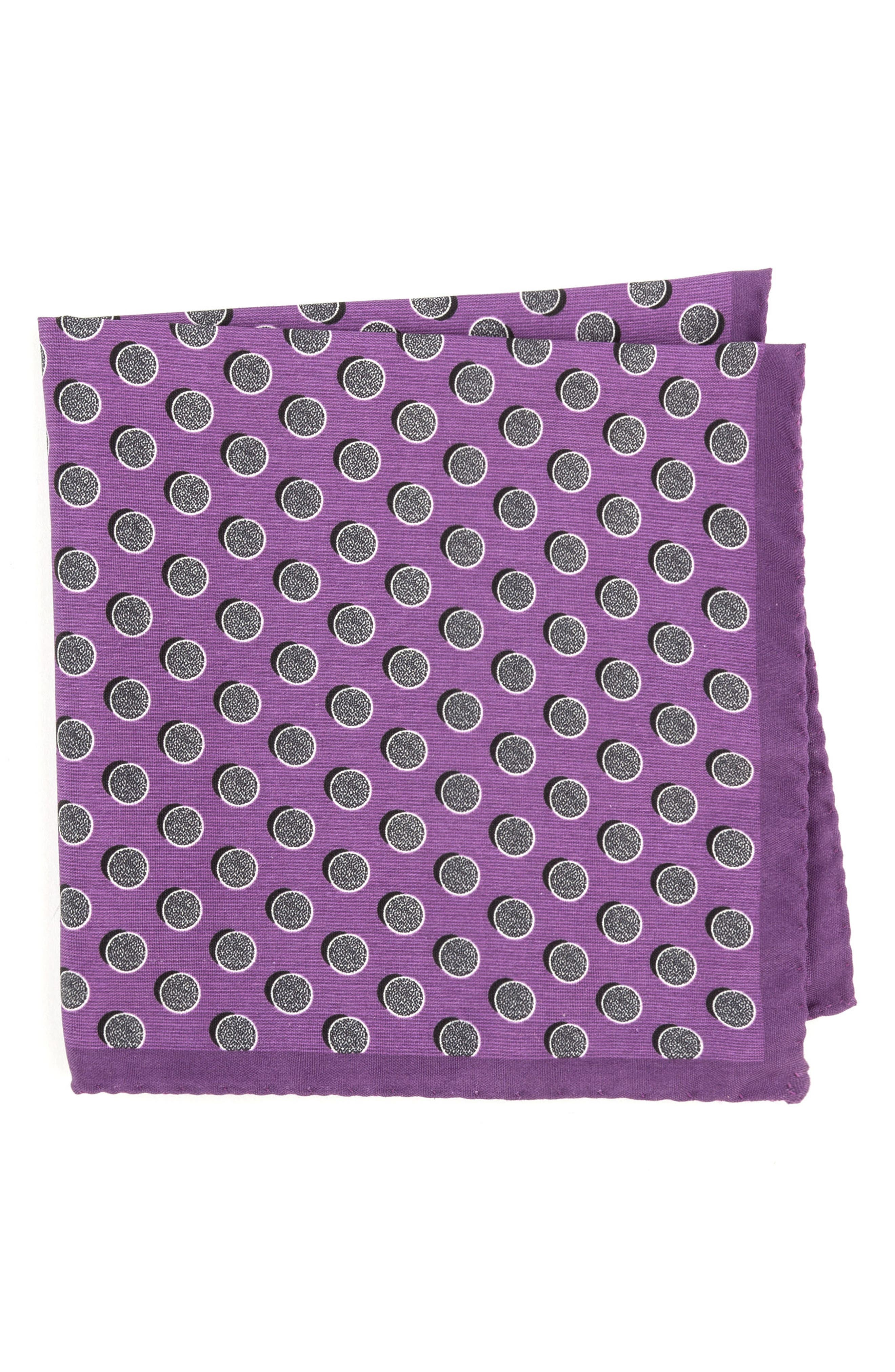 Ted Baker London Dot Silk Pocket Square