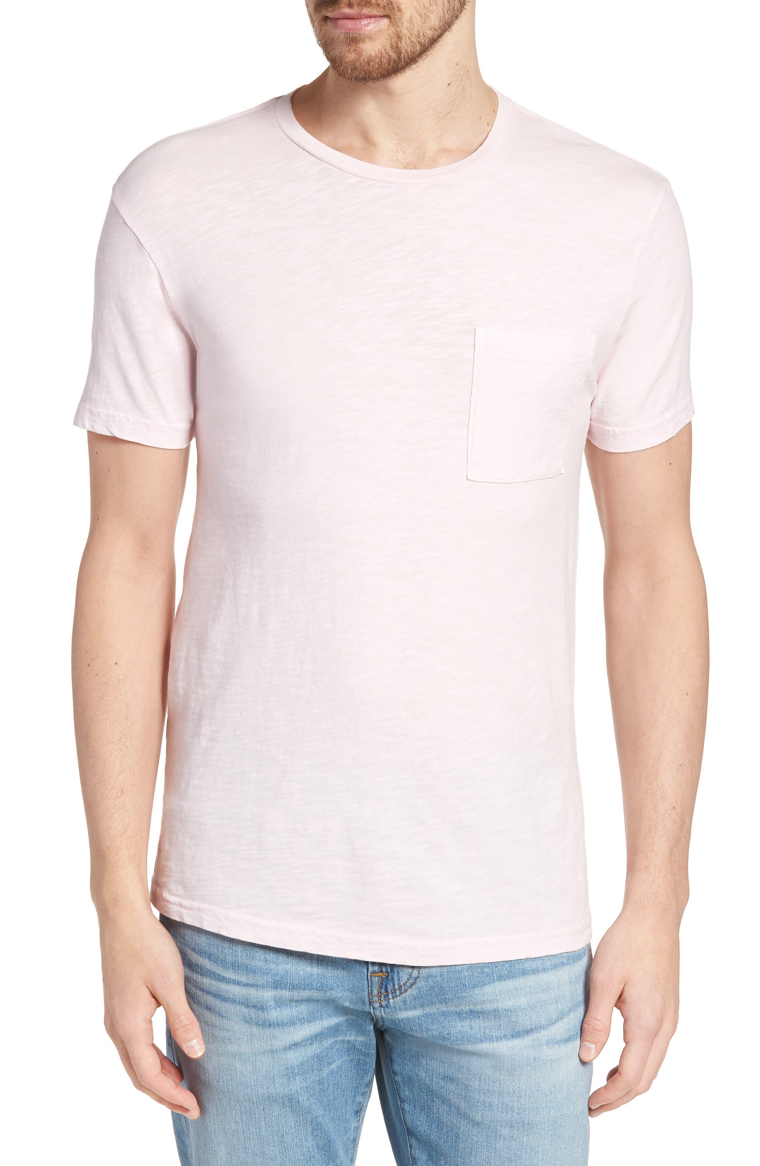 Slim Fit Garment Dyed T-Shirt,                         Main,                         color, Light Pink