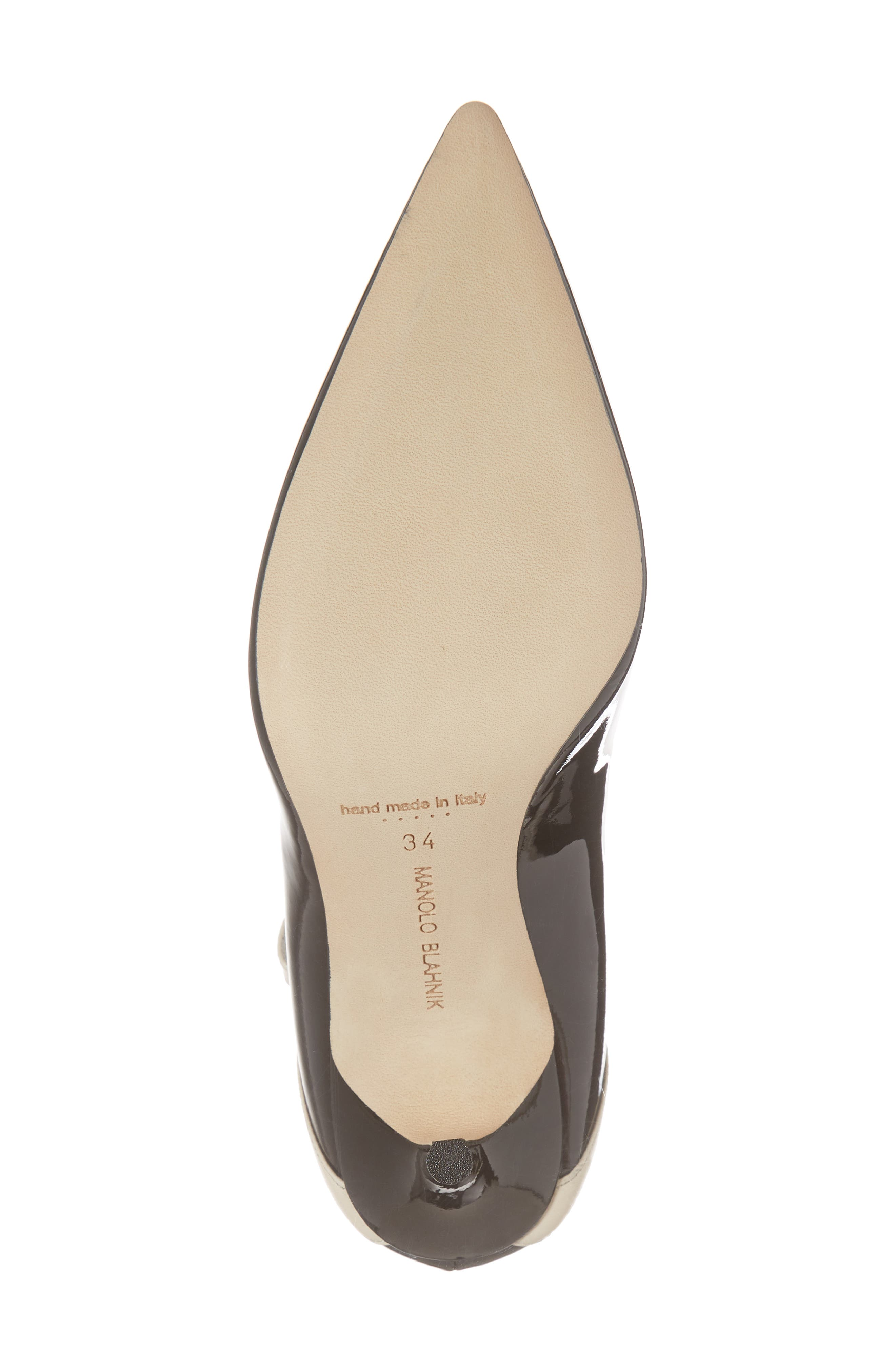 Immaculada Bow Pointy Toe Pump,                             Alternate thumbnail 6, color,                             Black/ White