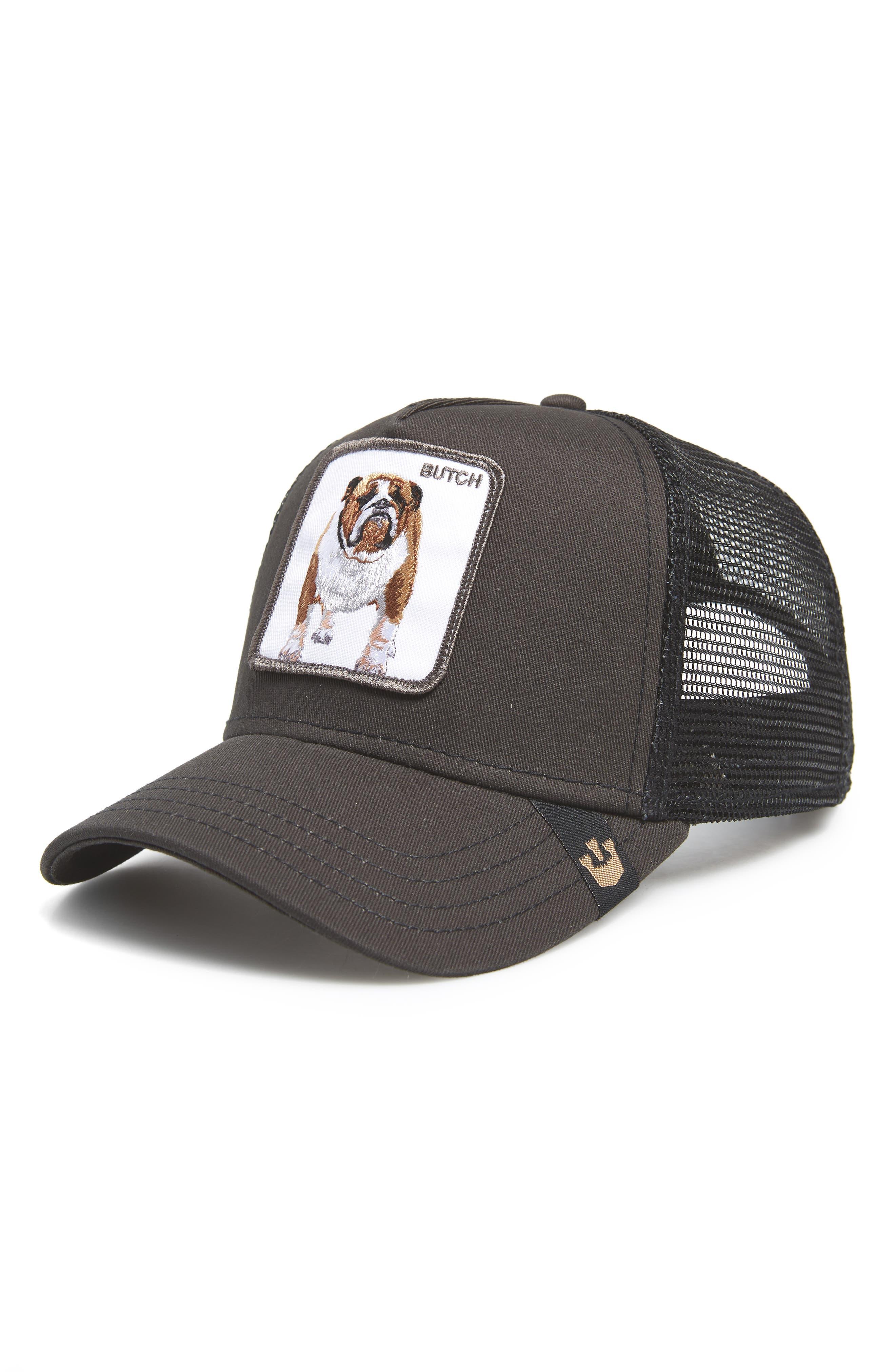 Butch Trucker Cap,                             Main thumbnail 1, color,                             Black