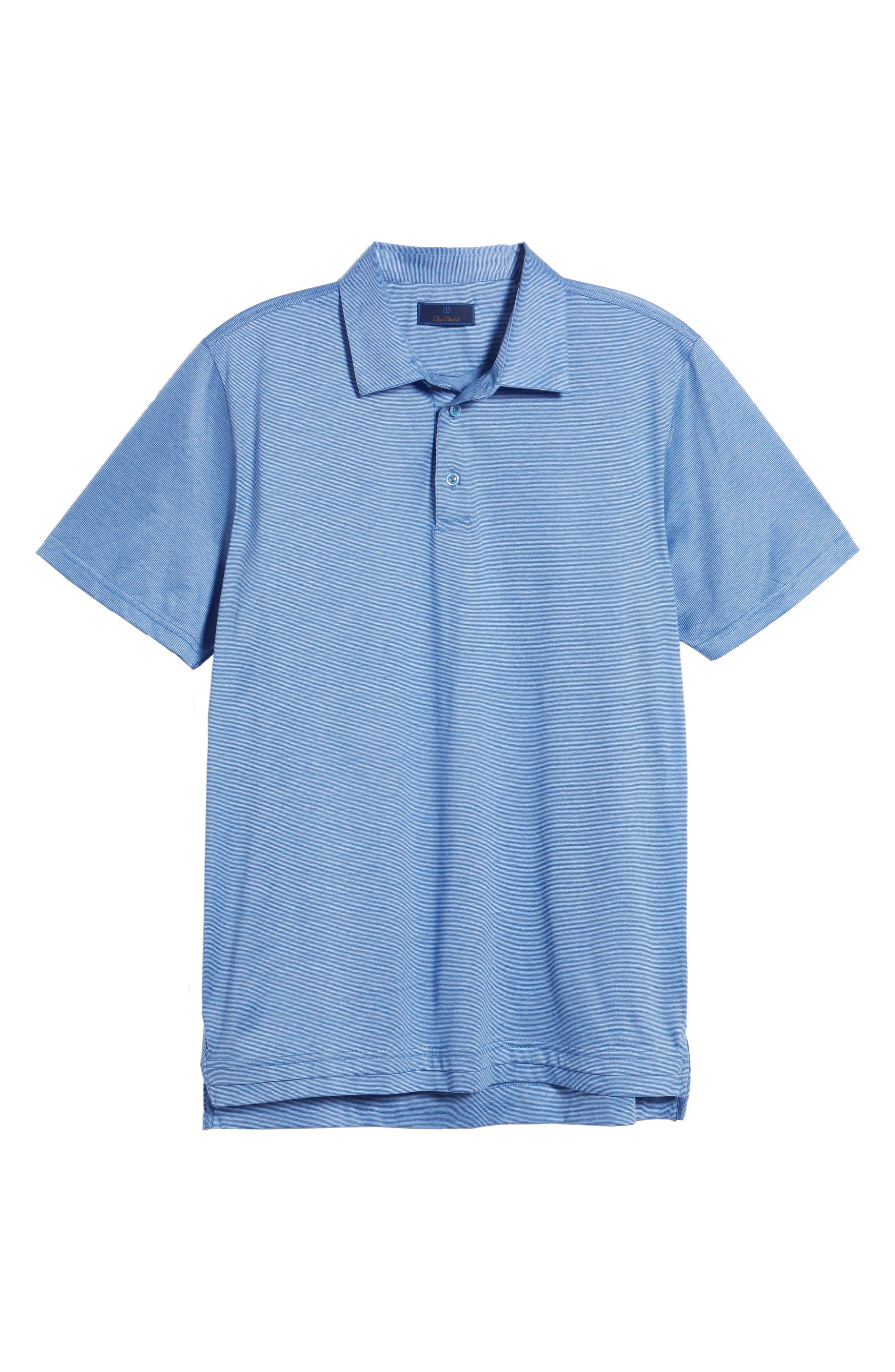 Fine Line Polo,                             Alternate thumbnail 6, color,                             Blue