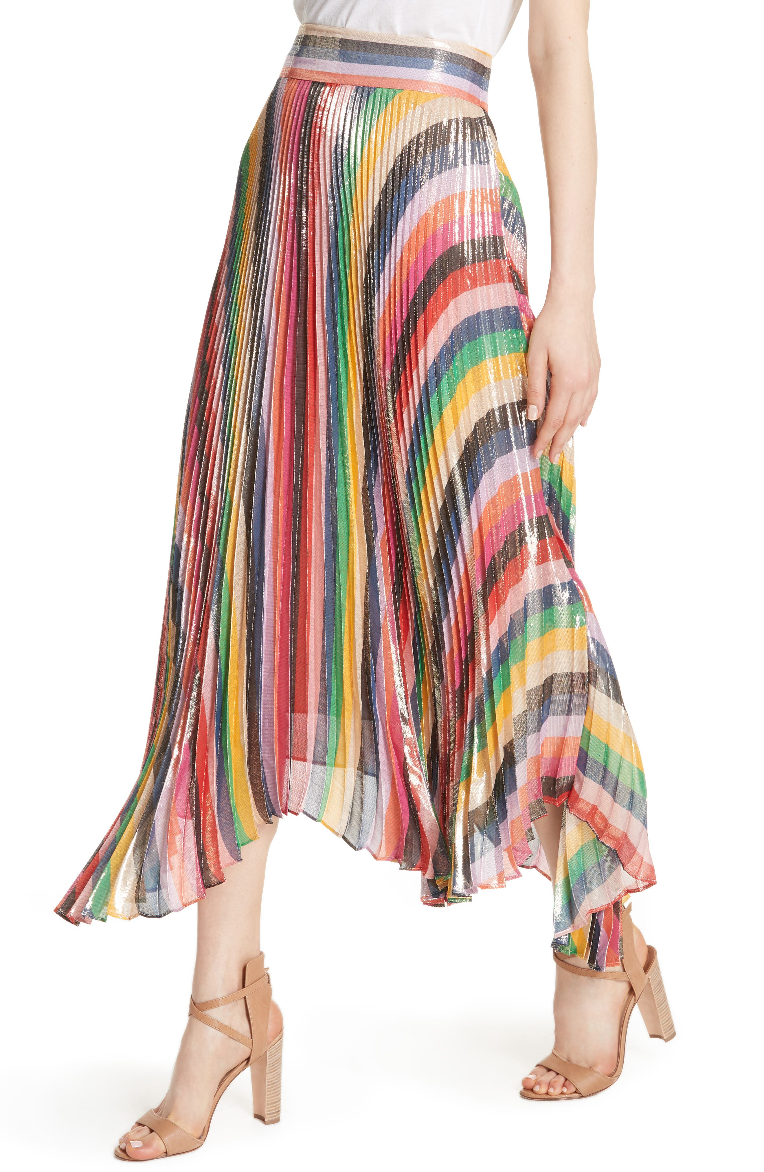 Katz Sunburst Pleated Maxi Skirt,                             Alternate thumbnail 2, color,                             Multi