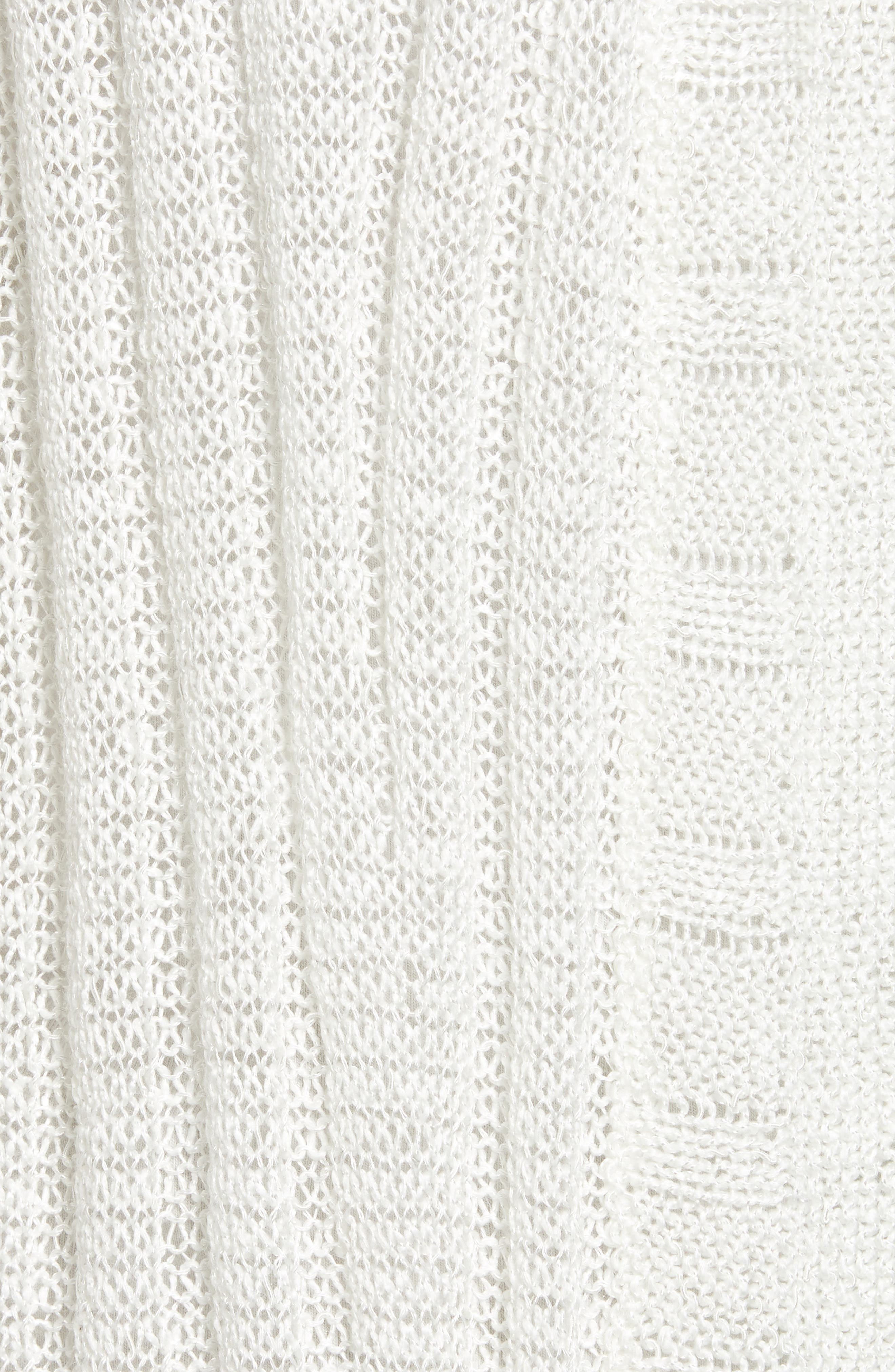Changing Tides Linen Blend Open Front Cardigan,                             Alternate thumbnail 6, color,                             Milk White