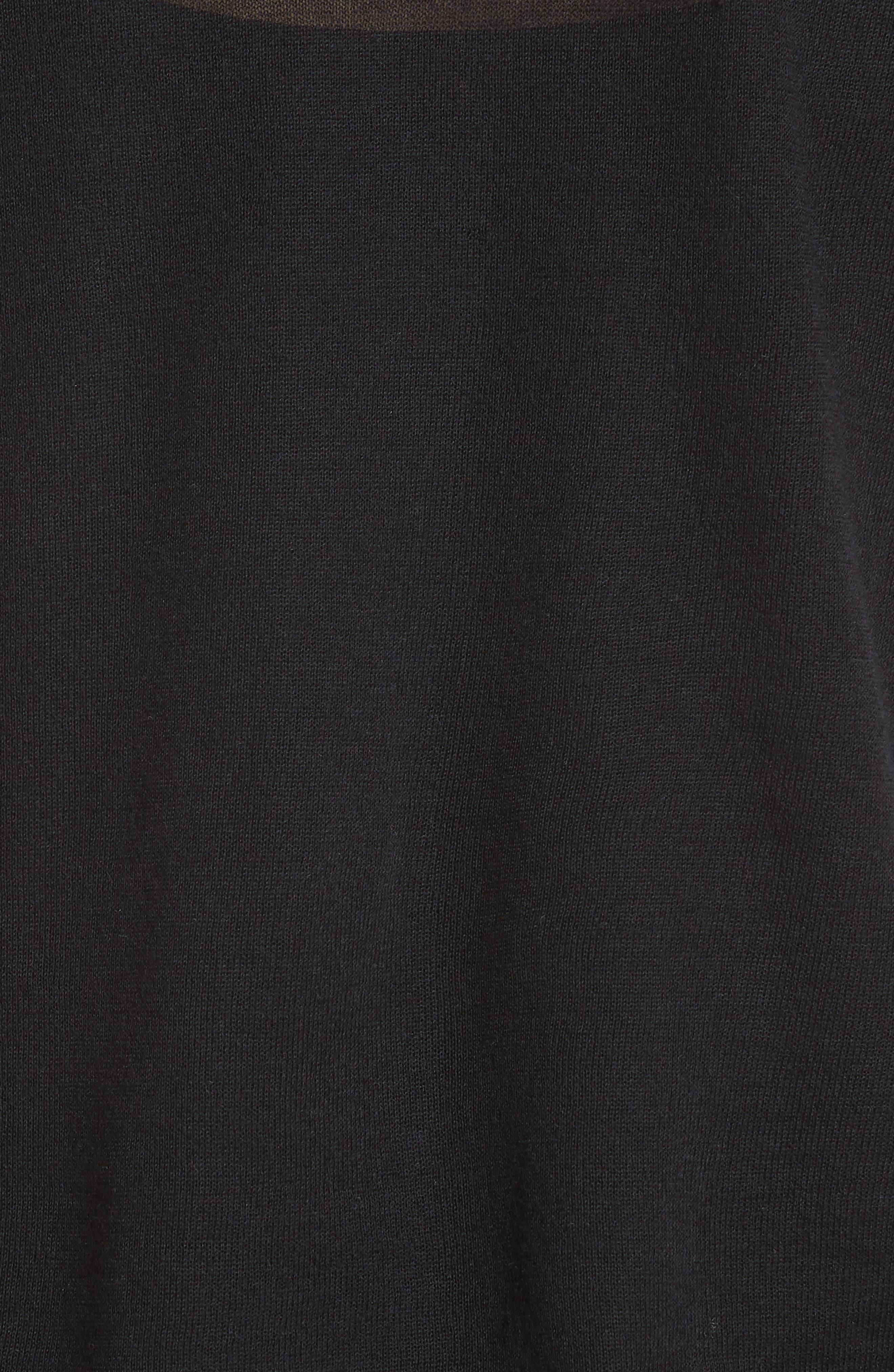 Killik Cashmere Sweater,                             Alternate thumbnail 5, color,                             Black