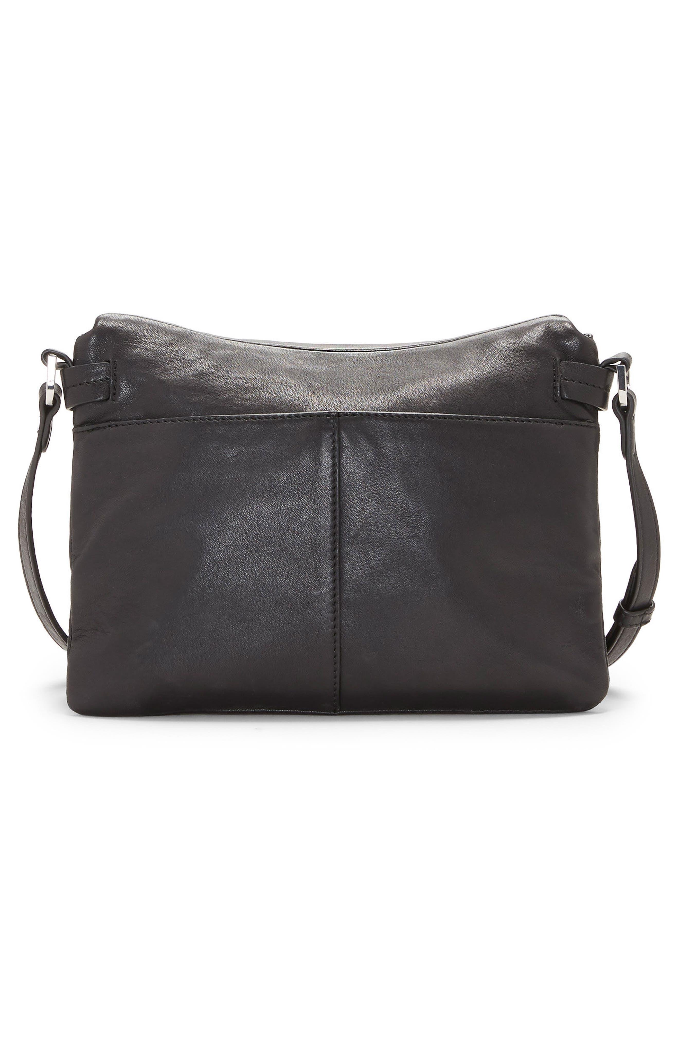 Alder Leather Crossbody Bag,                             Alternate thumbnail 2, color,                             Nero