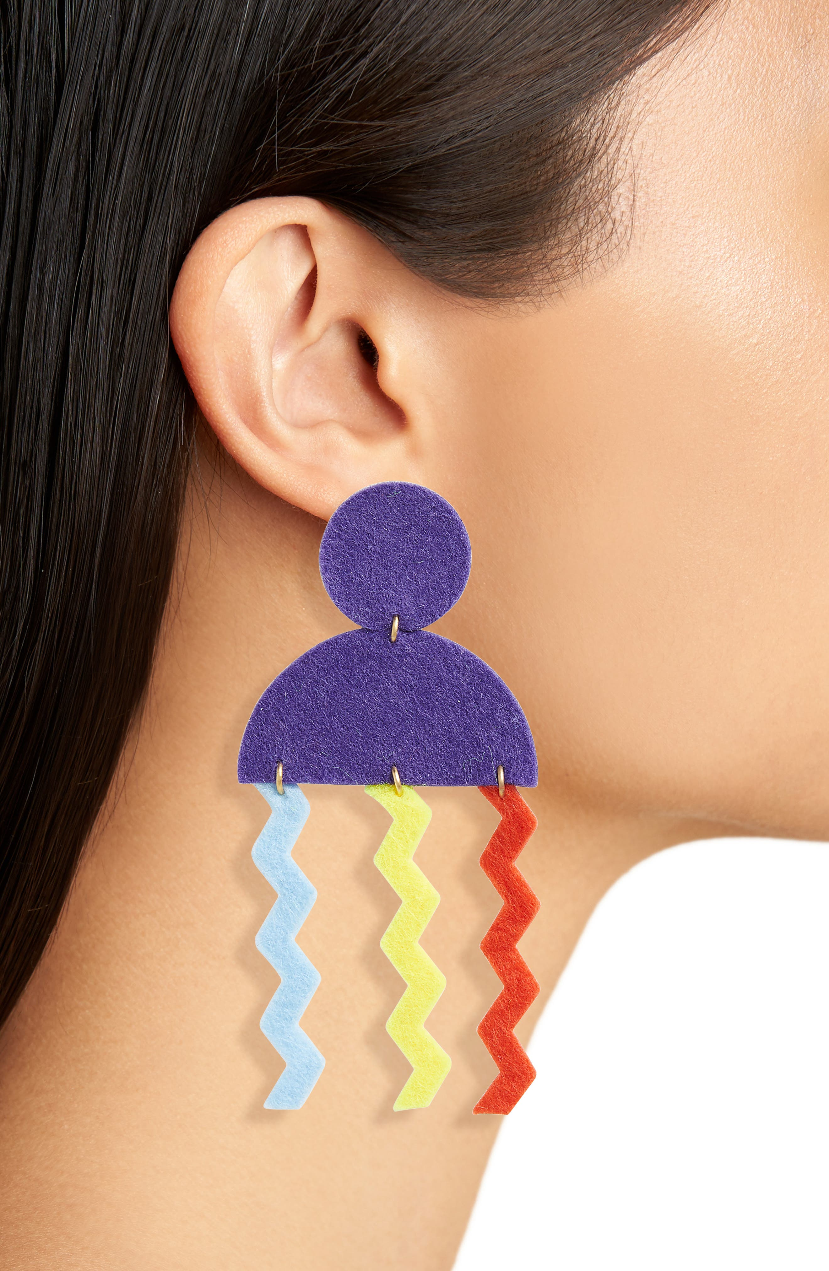 Memphis Jelly Earrings,                             Alternate thumbnail 2, color,                             Purple Multi