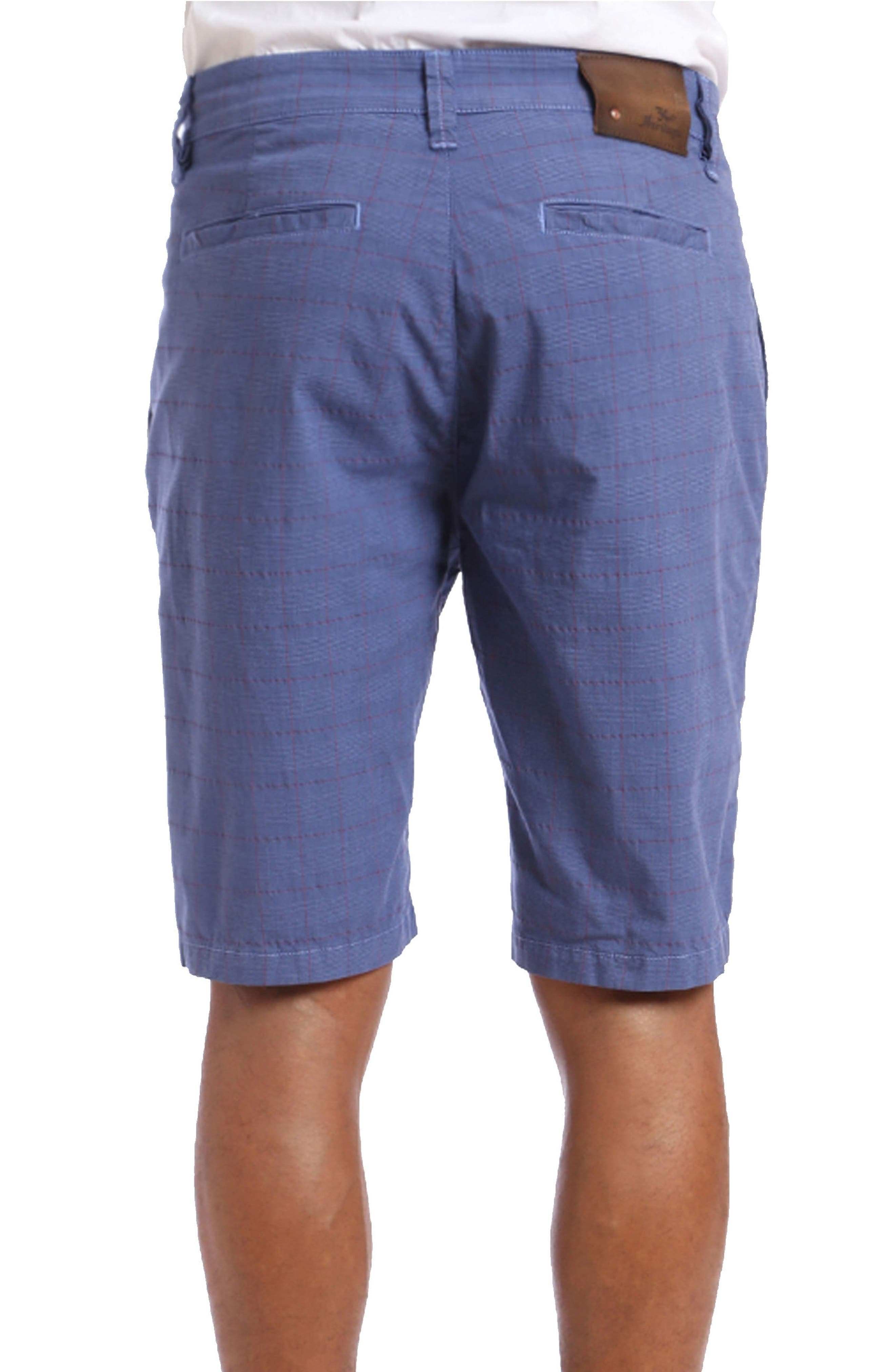 Nevada Twill Shorts,                             Alternate thumbnail 2, color,                             Indigo Plaid
