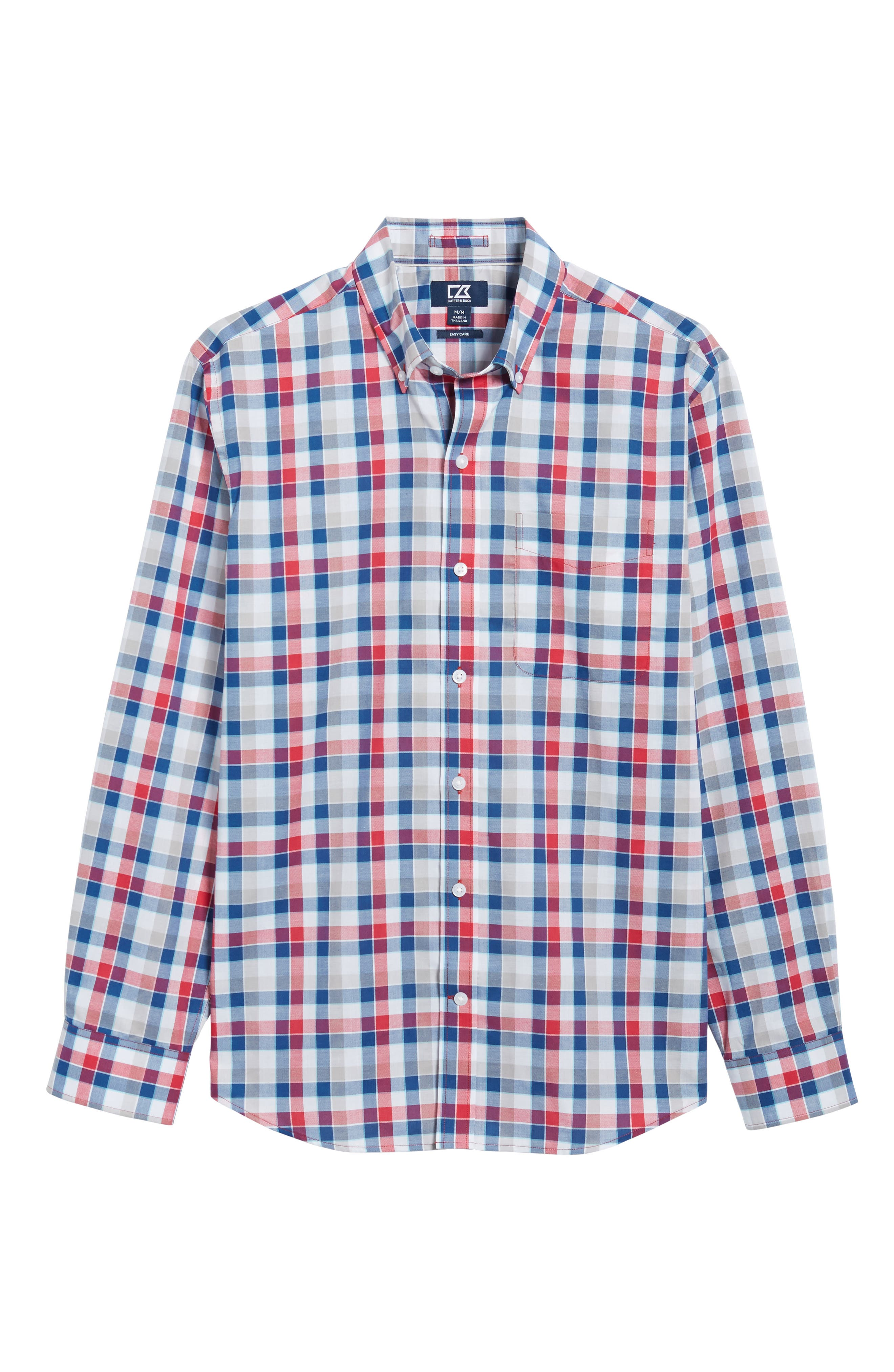Dylan Classic Fit Easy Care Check Sport Shirt,                             Alternate thumbnail 6, color,                             Virtual