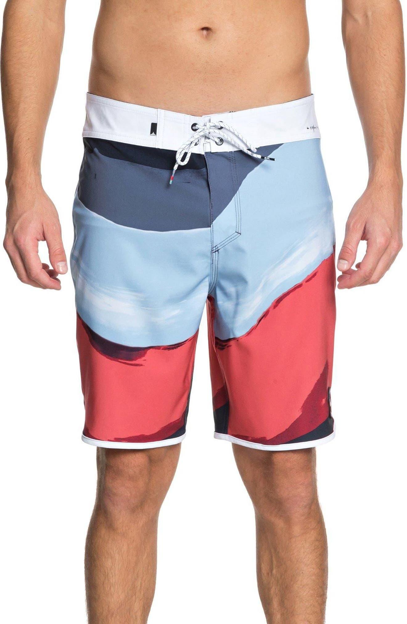 Highline Resin Board Shorts,                             Main thumbnail 1, color,                             Navy Blazer
