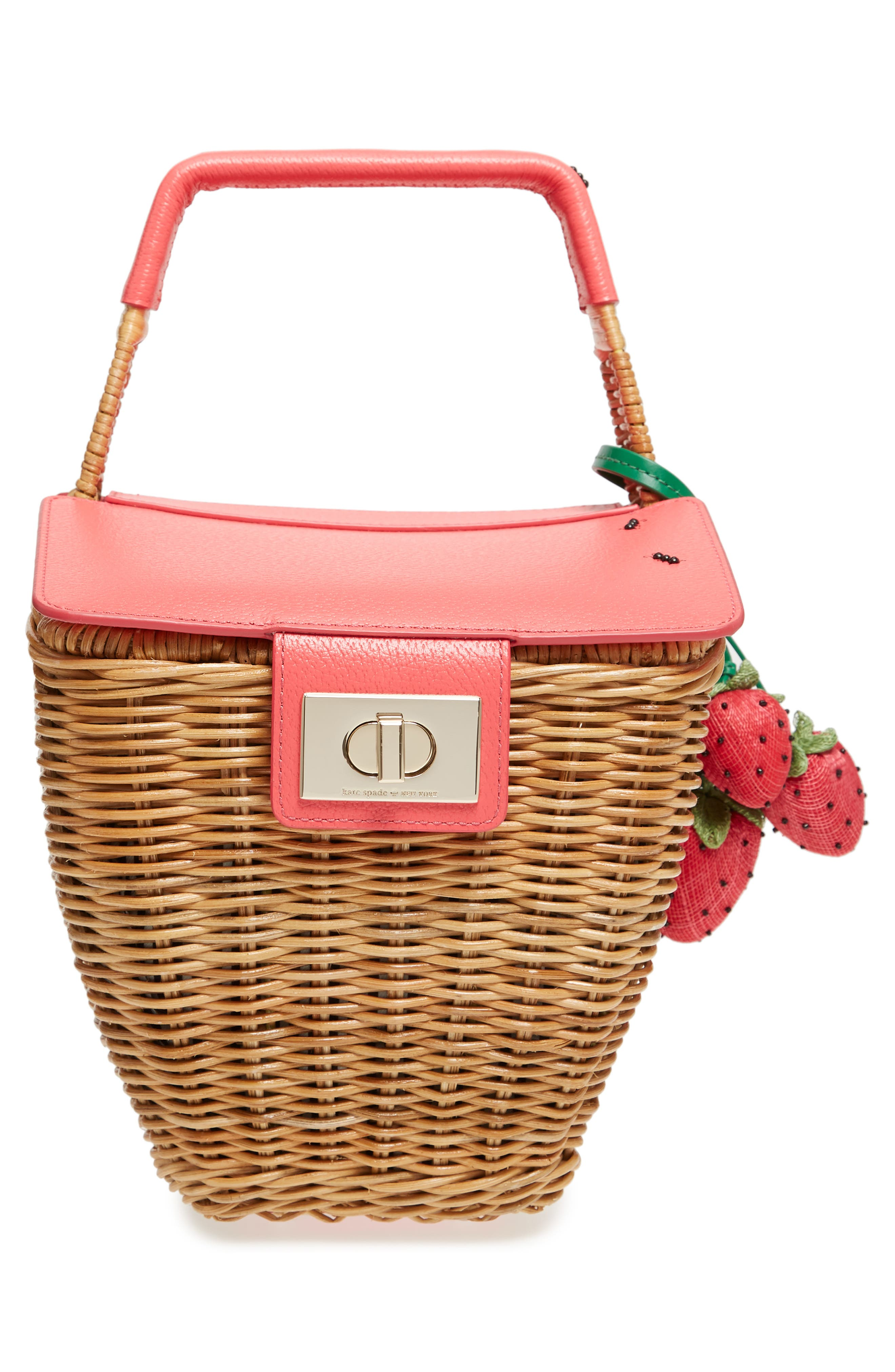 picnic perfect 3D wicker picnic basket,                             Alternate thumbnail 5, color,                             Multi
