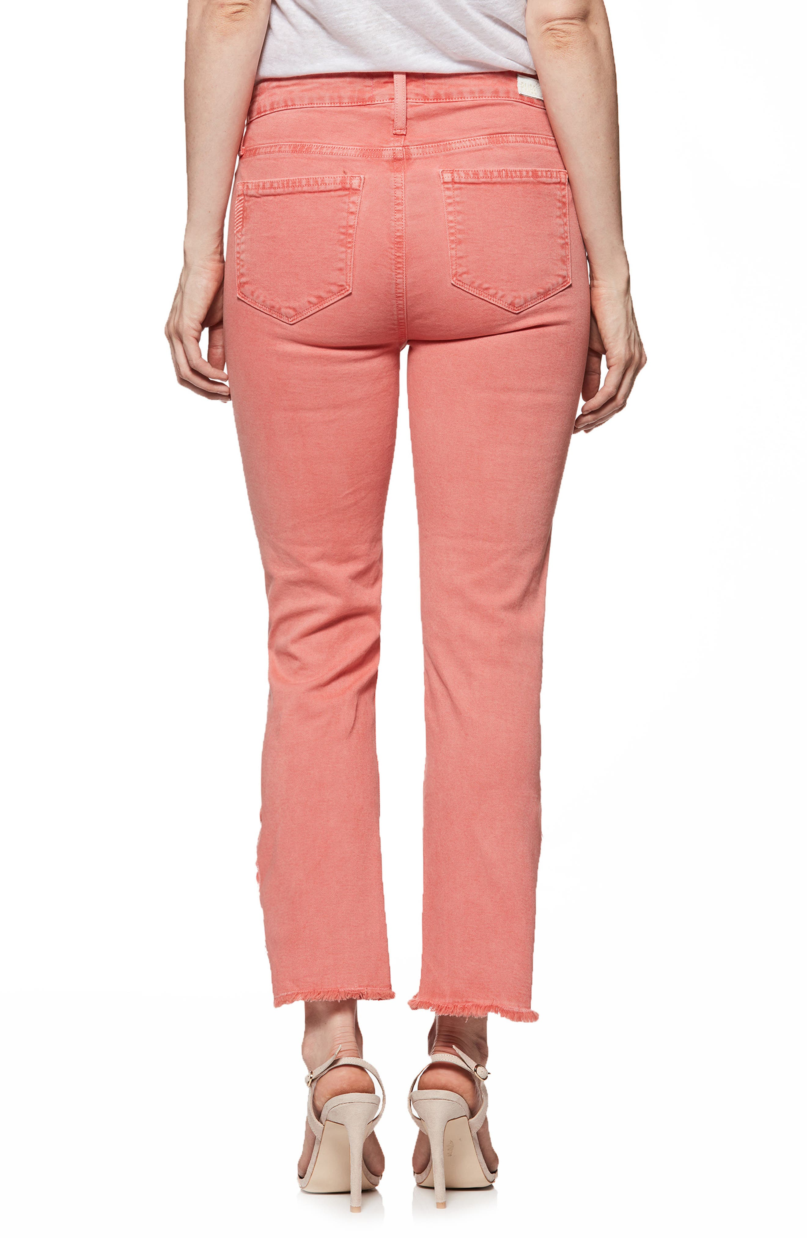 Hoxton High Waist Slit Hem Ankle Straight Jeans,                             Alternate thumbnail 2, color,                             Vintage Coral Reef