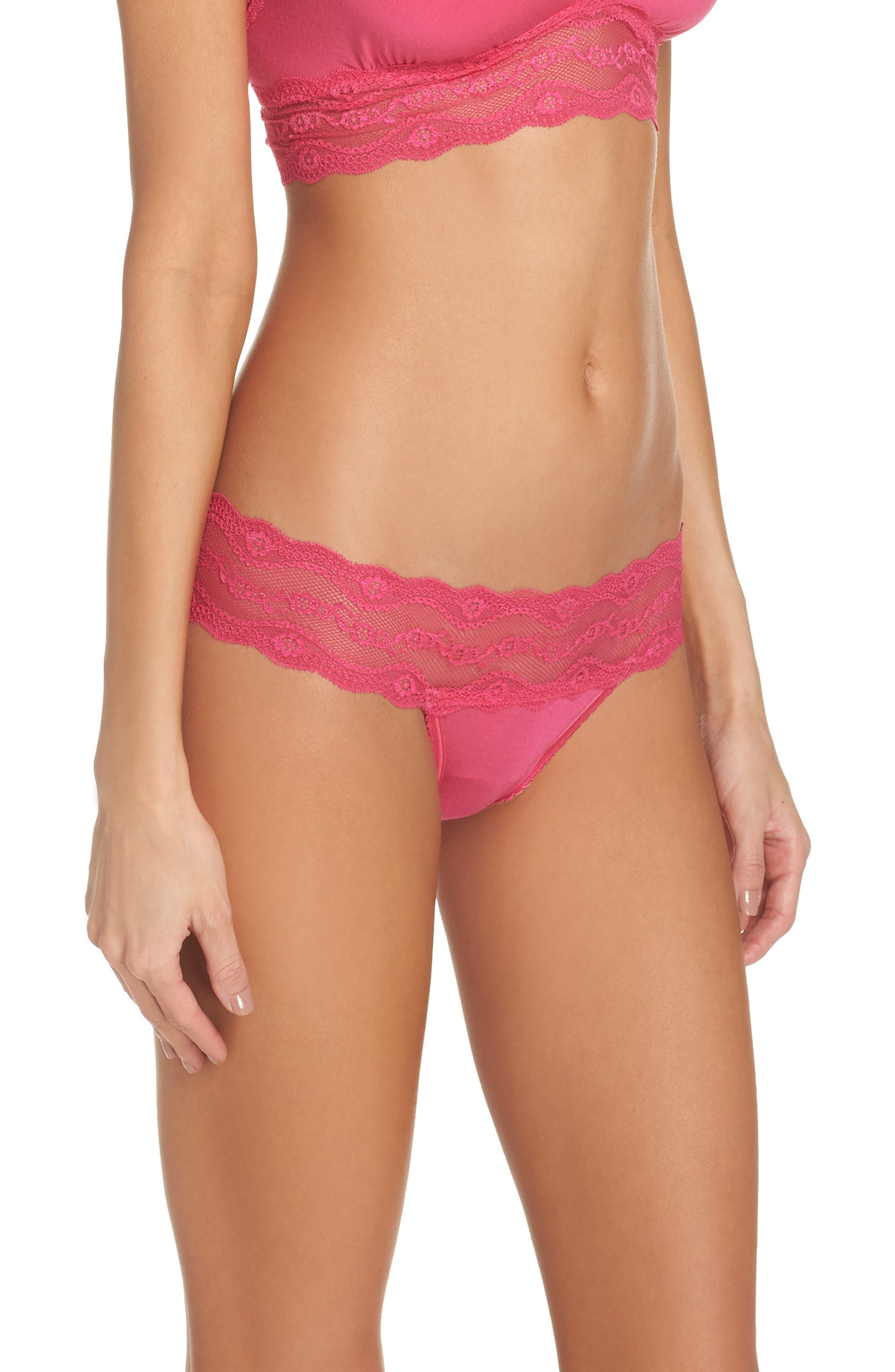 B. Adorable Bikini,                             Alternate thumbnail 3, color,                             Pink Peacock
