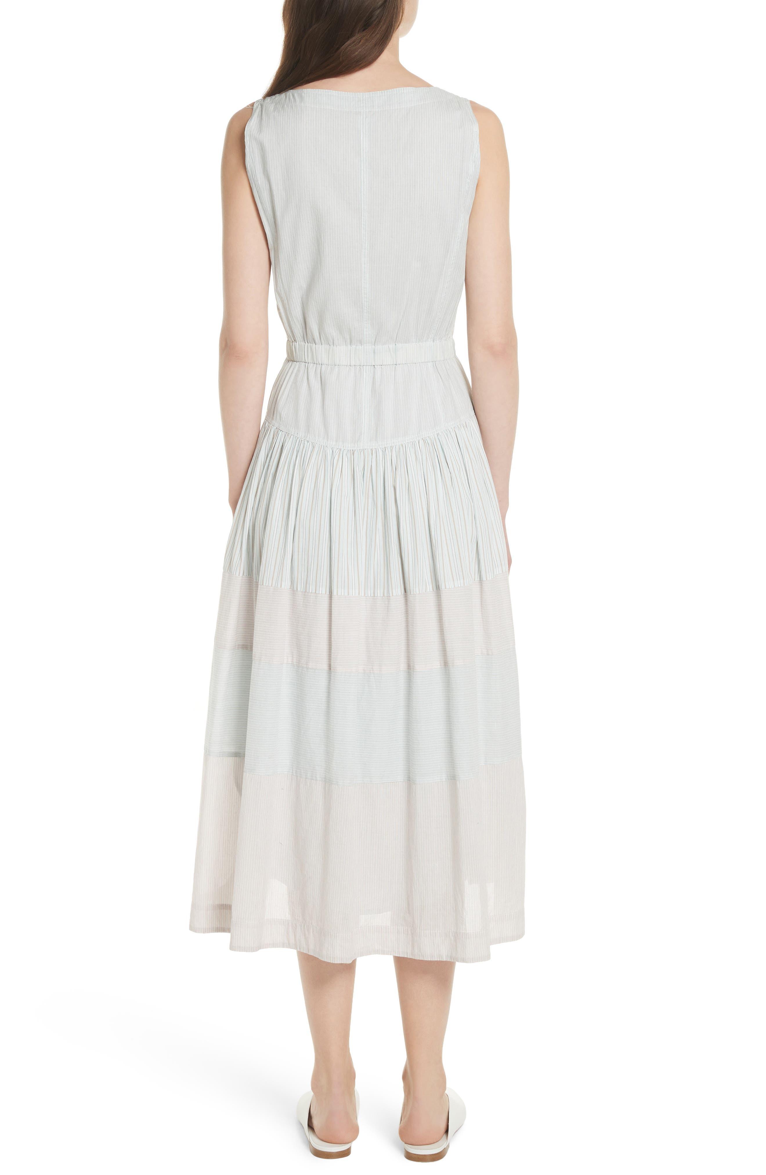 Mix Stripe Cotton Dress,                             Alternate thumbnail 2, color,                             Multi Combo
