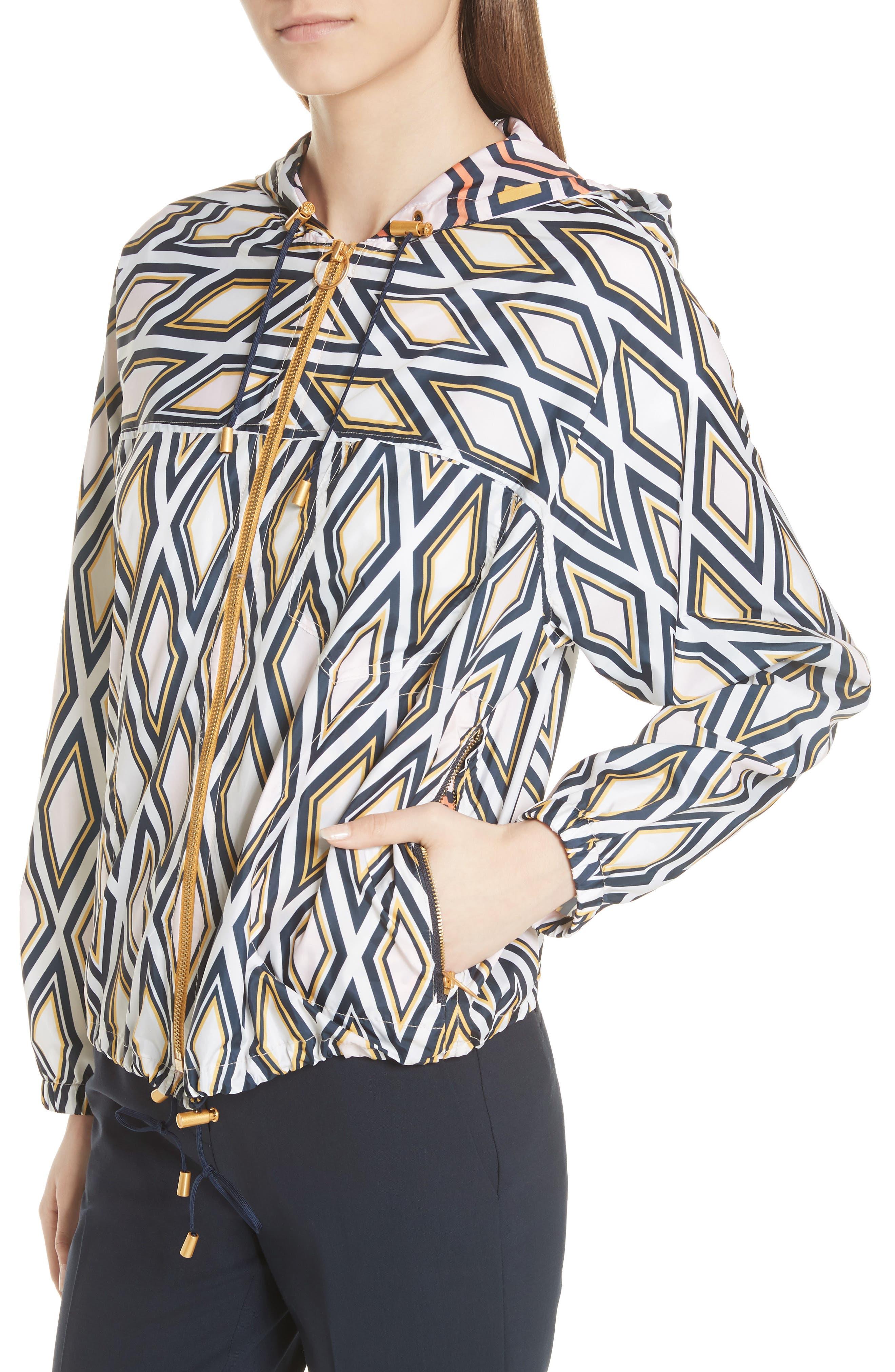 Devon Hooded Jacket,                             Alternate thumbnail 4, color,                             Solitaire Diamond
