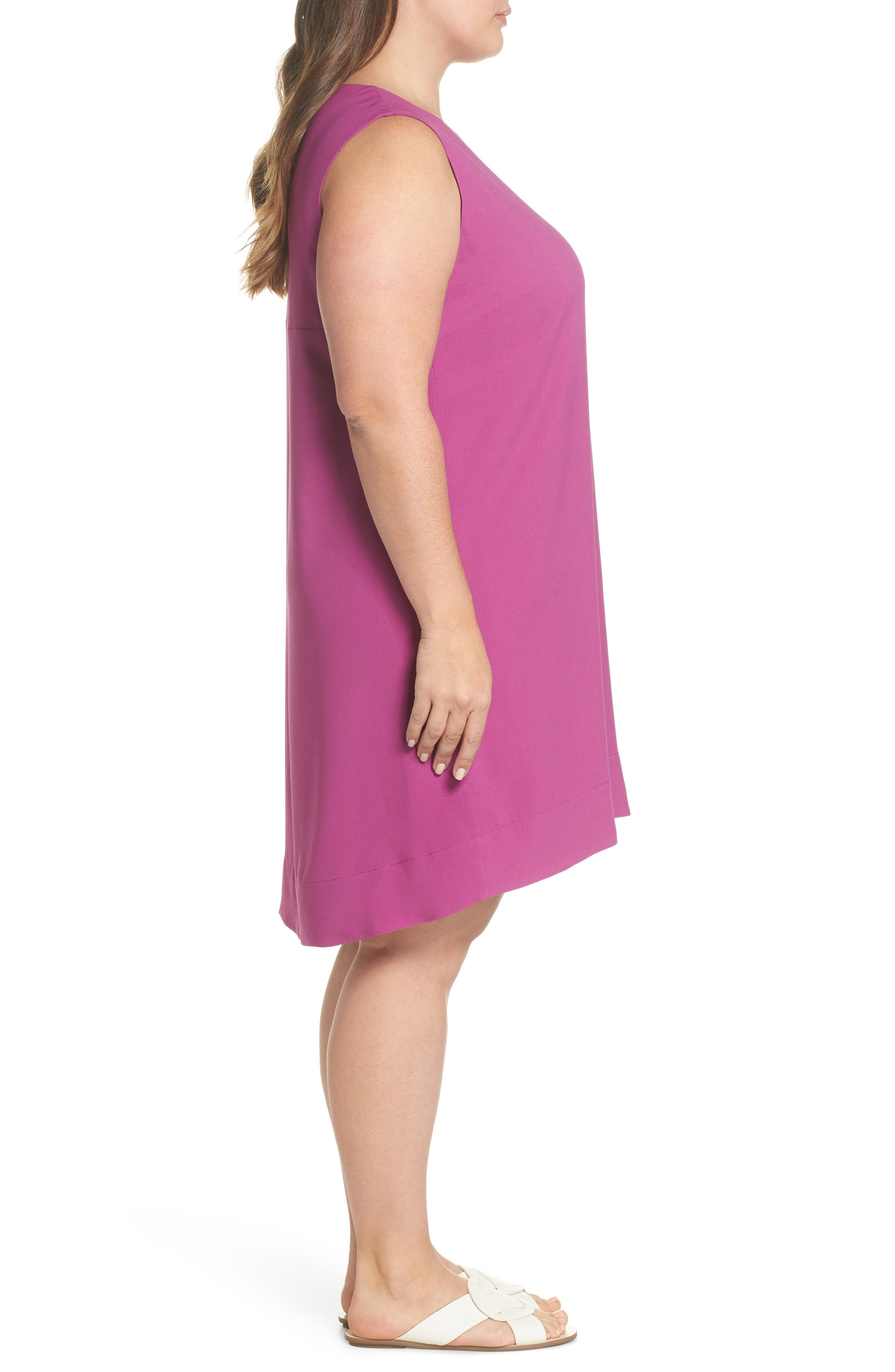 x Living in Yellow Becca Tank Dress,                             Alternate thumbnail 4, color,                             Deep Violet