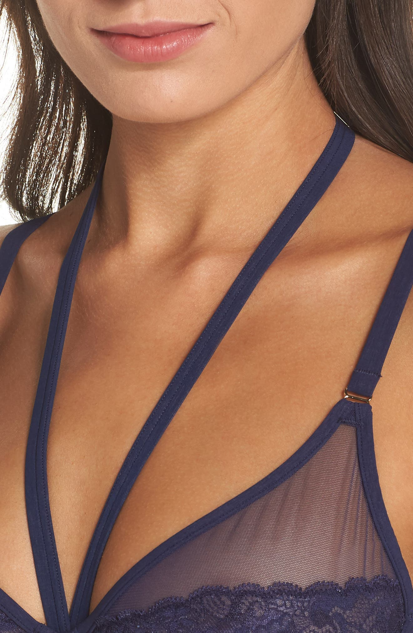 Rock Candy Underwire Bra,                             Alternate thumbnail 7, color,                             Navy