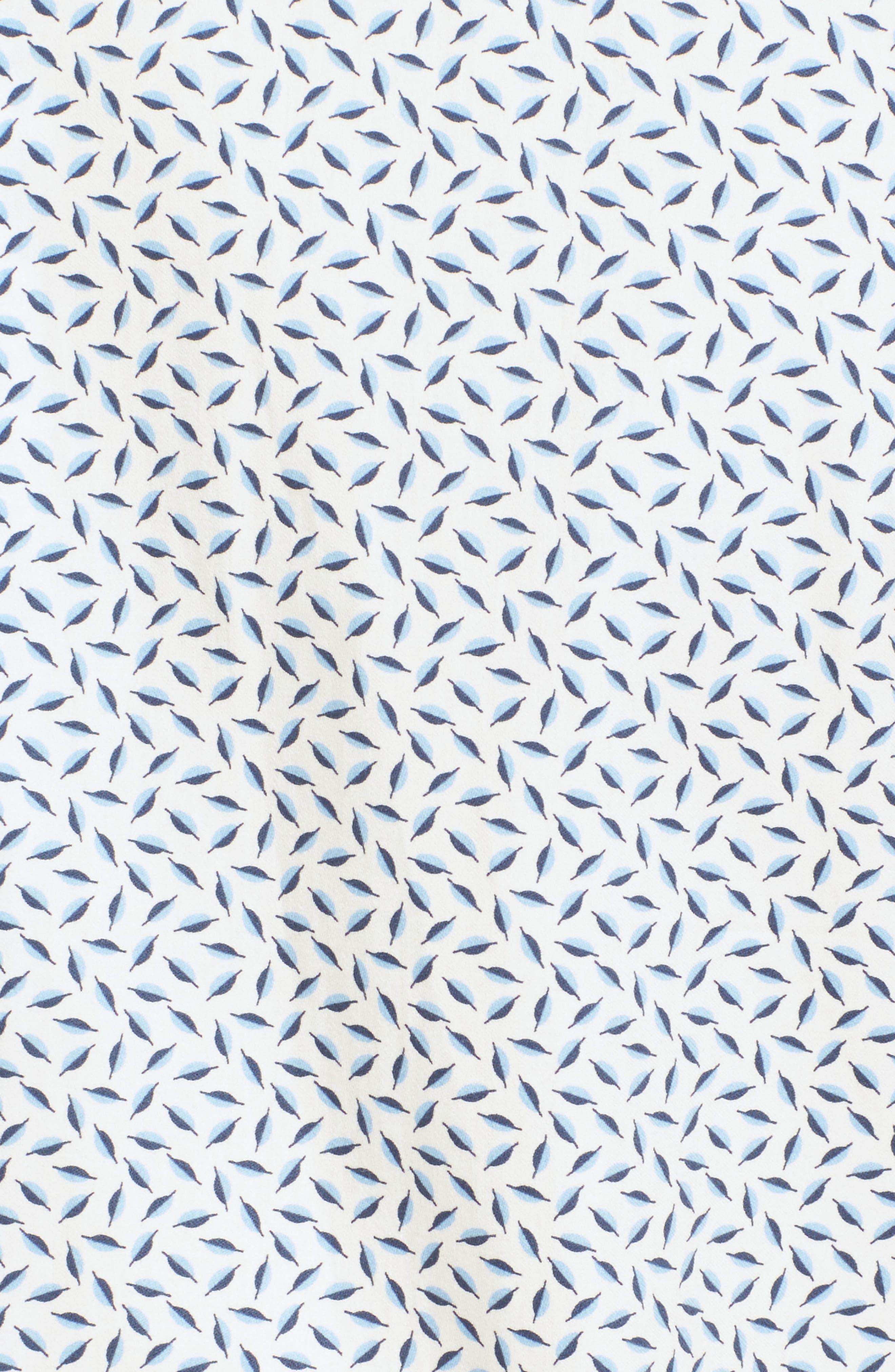 Narnar Trim Fit Geo Print Camp Shirt,                             Alternate thumbnail 5, color,                             White