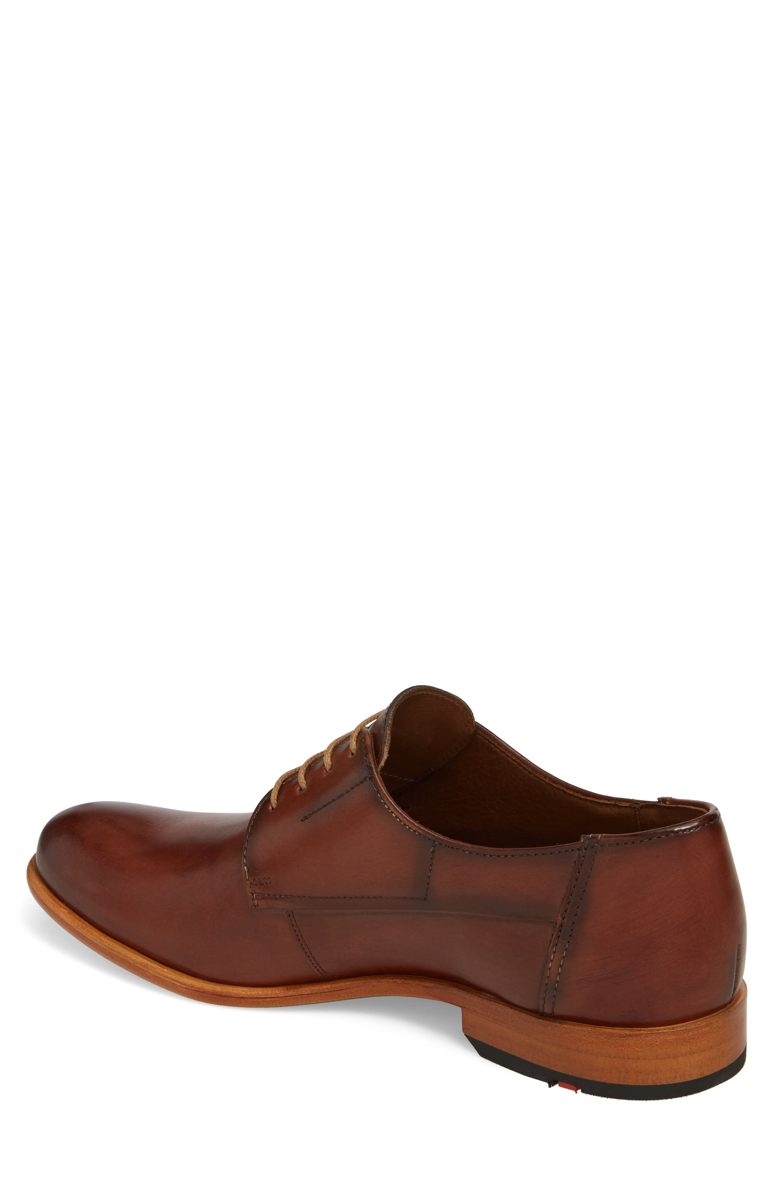 Nansen Plain Toe Derby,                             Alternate thumbnail 2, color,                             Cognac Leather