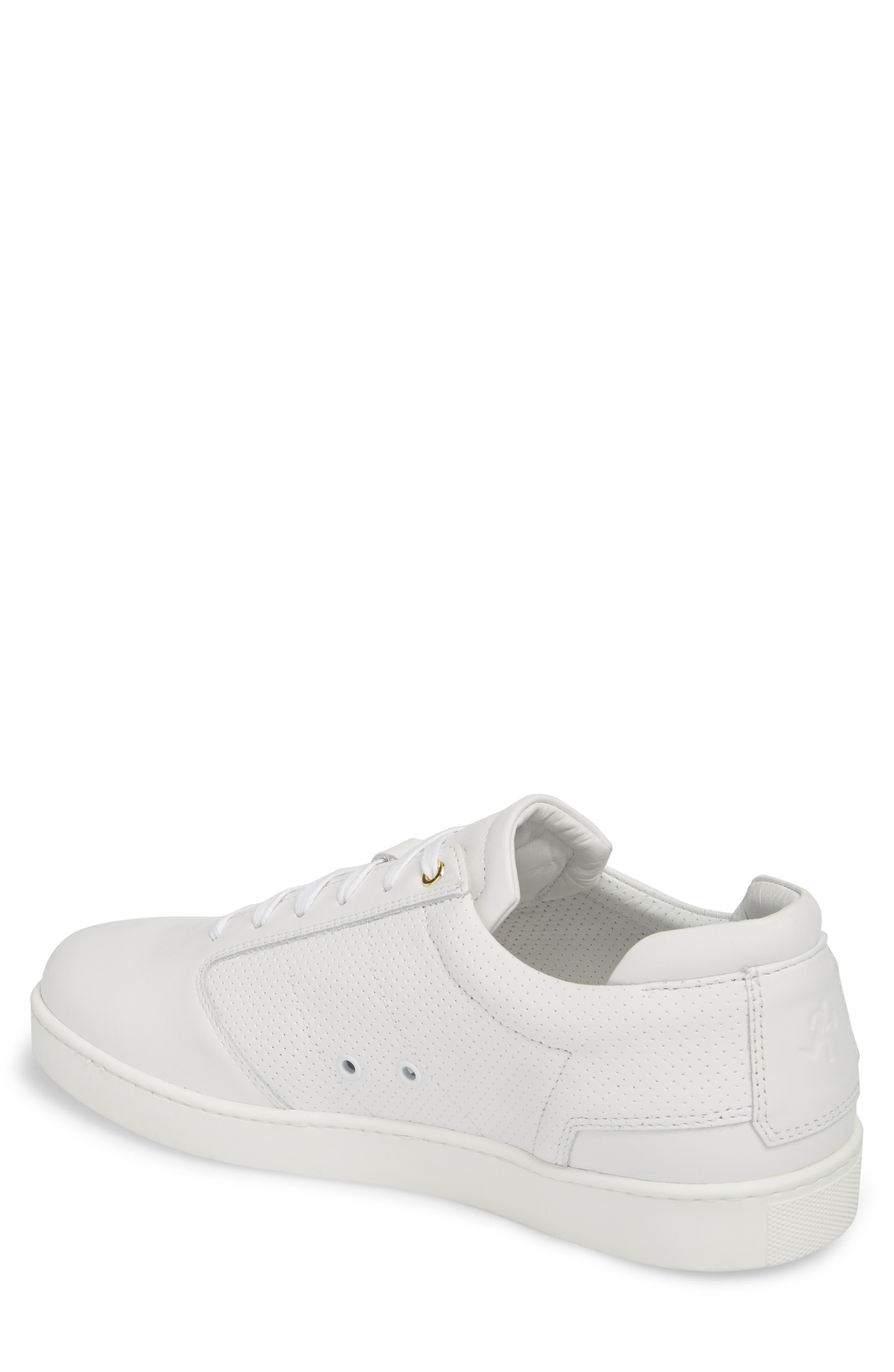 Lennon Sneaker,                             Alternate thumbnail 2, color,                             Multi Perforated White