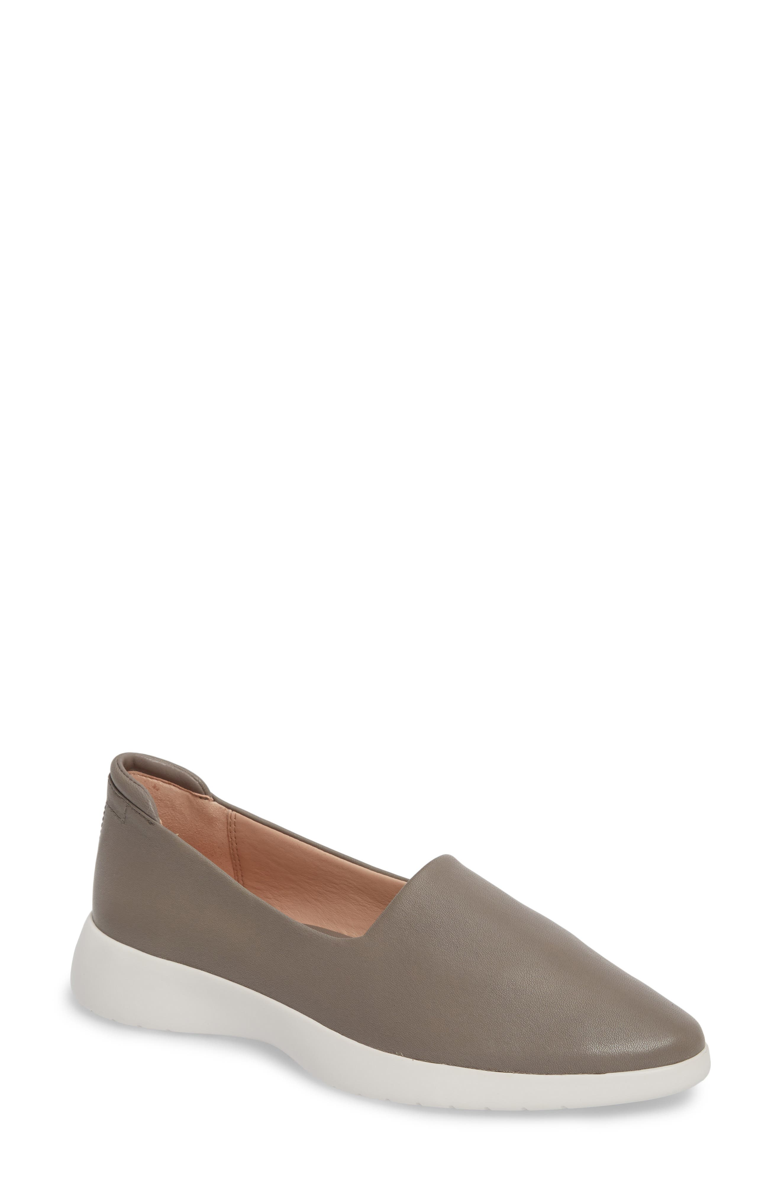 Darla Slip-On Sneaker,                             Main thumbnail 1, color,                             Grey Leather