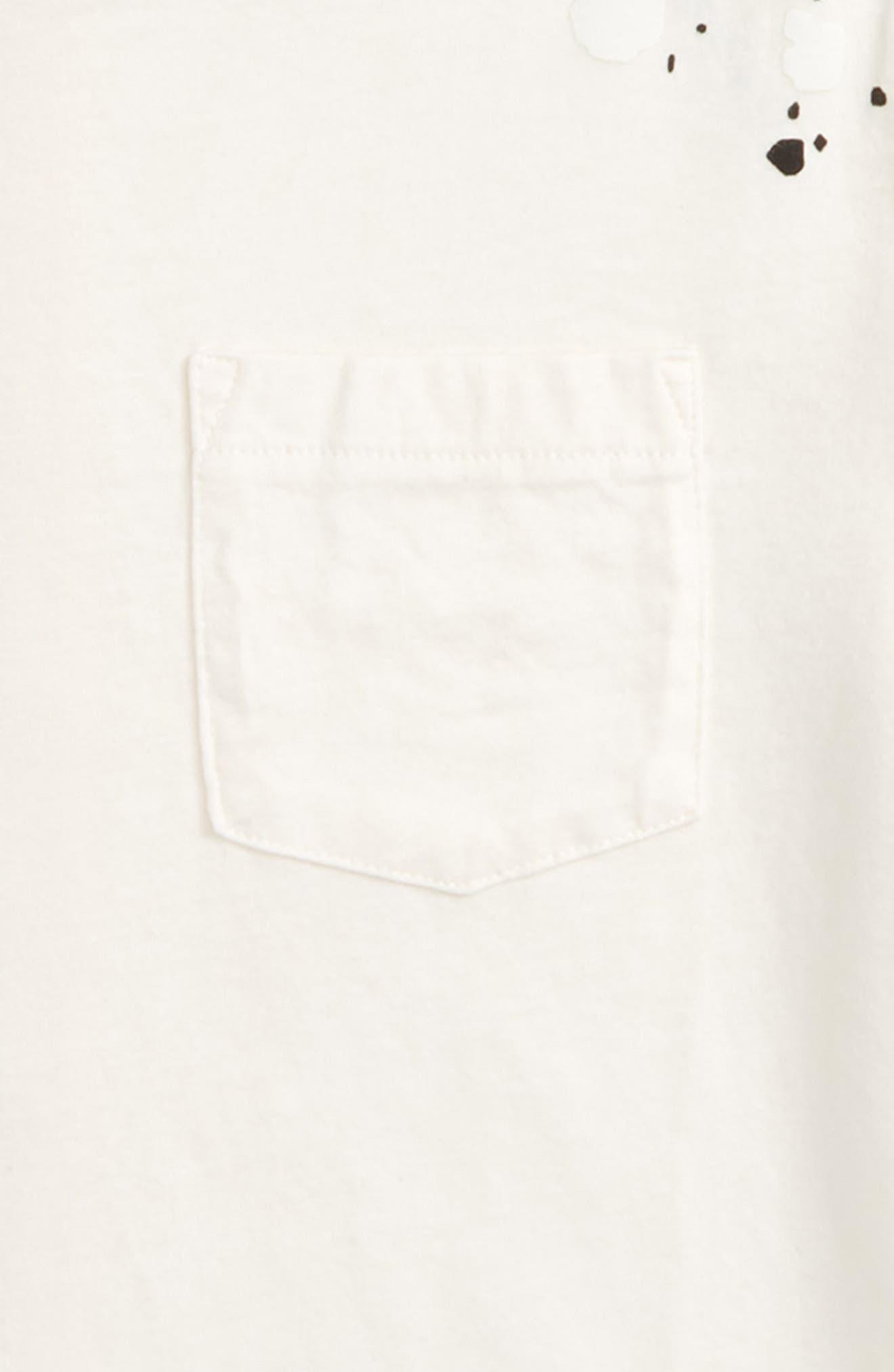 Waverly Paint Splatter Tee,                             Alternate thumbnail 2, color,                             Bleach White/ Black