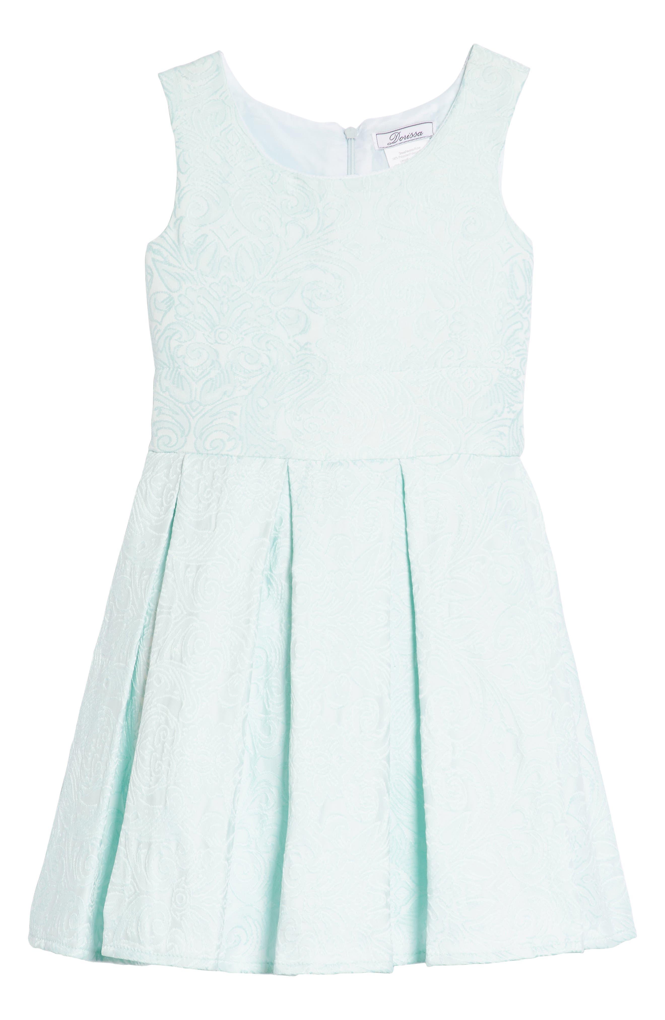 Megan Jacquard Dress,                             Main thumbnail 1, color,                             Aqua