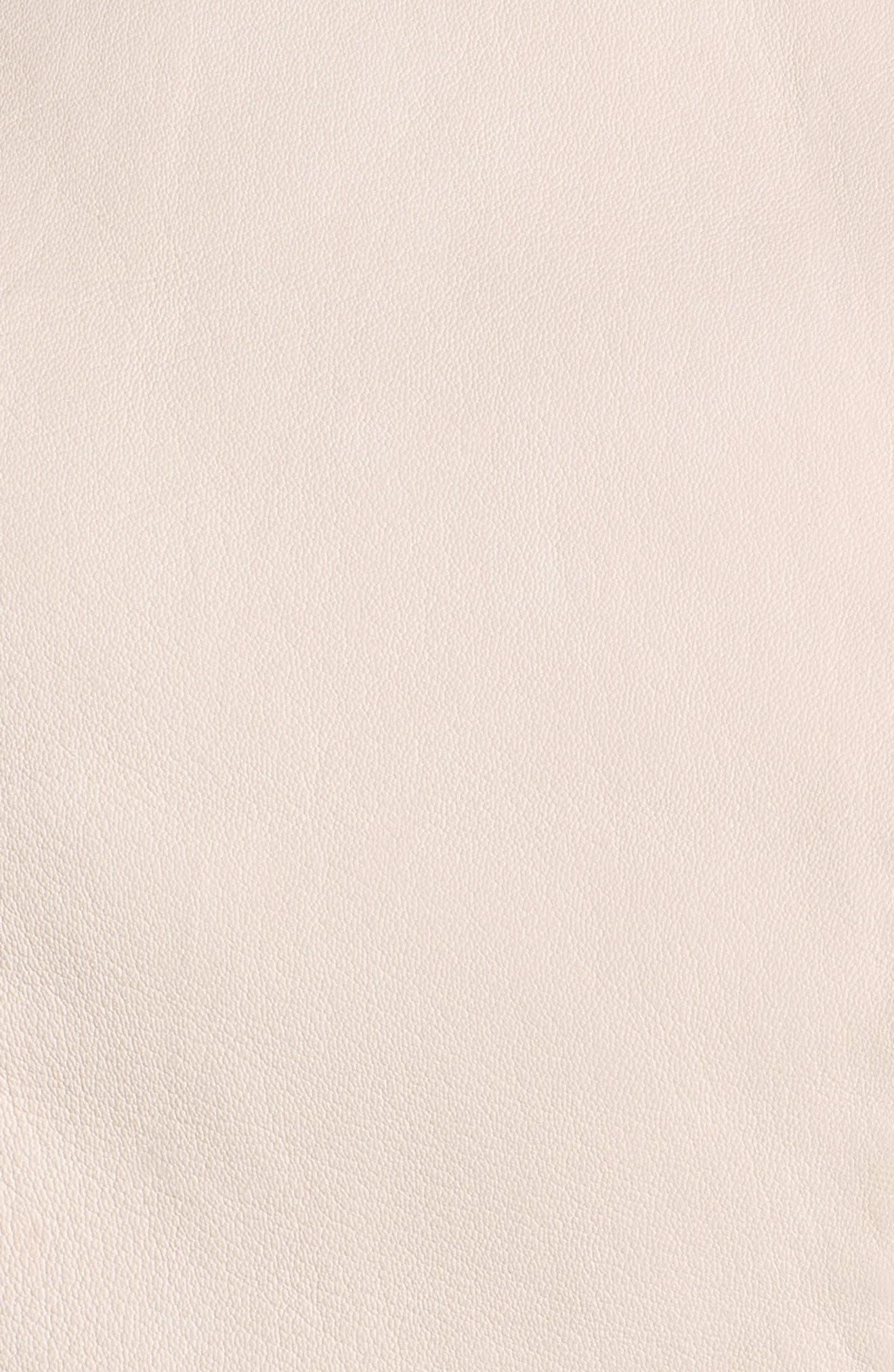 Eco-Friendly Leather Moto Jacket,                             Alternate thumbnail 6, color,                             Light Pink