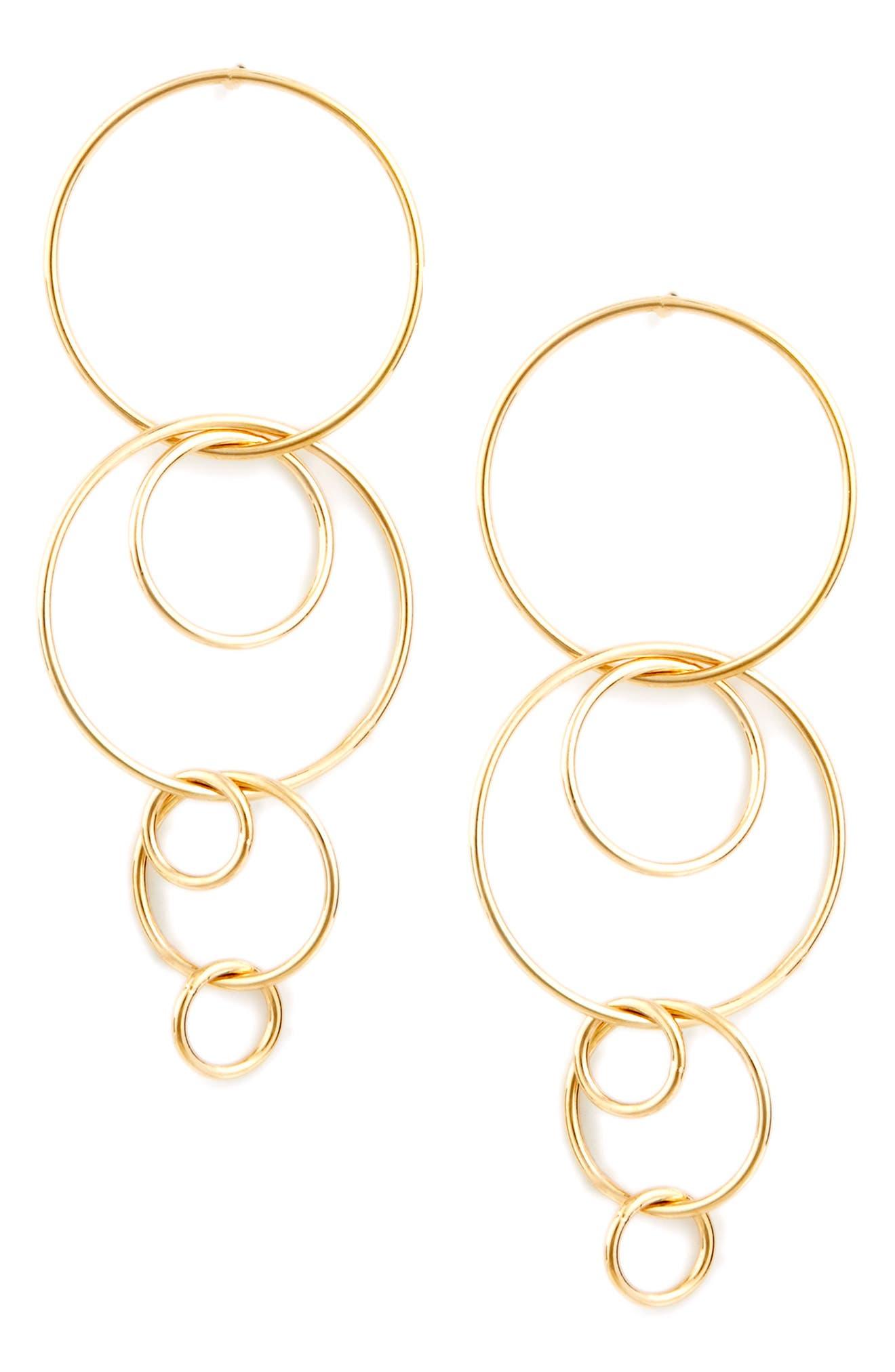 Sole Society Industrial Drop Earrings