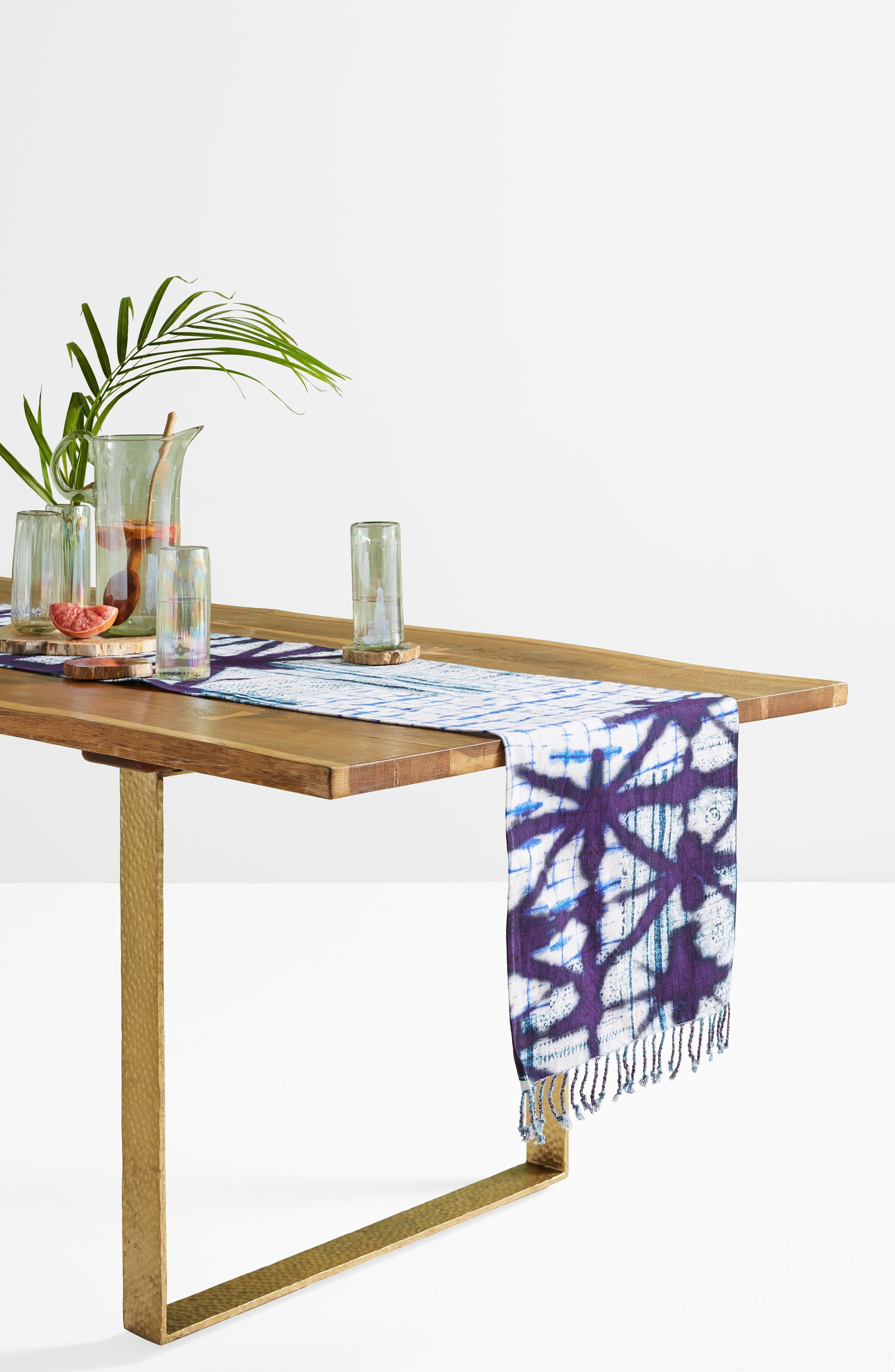 Alara Table Runner,                             Alternate thumbnail 4, color,                             Blue