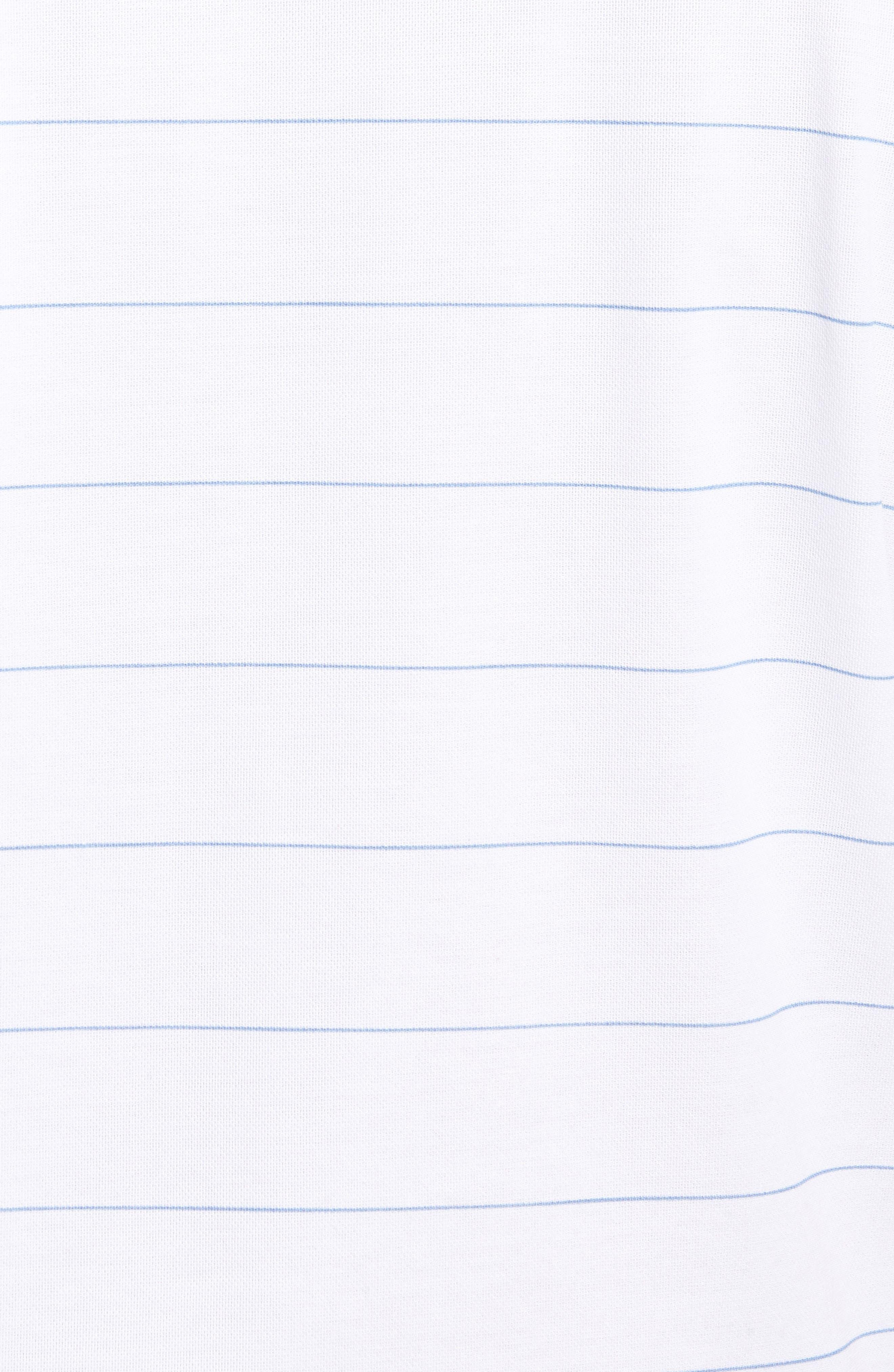 Stripe Cotton Blend Polo,                             Alternate thumbnail 5, color,                             White