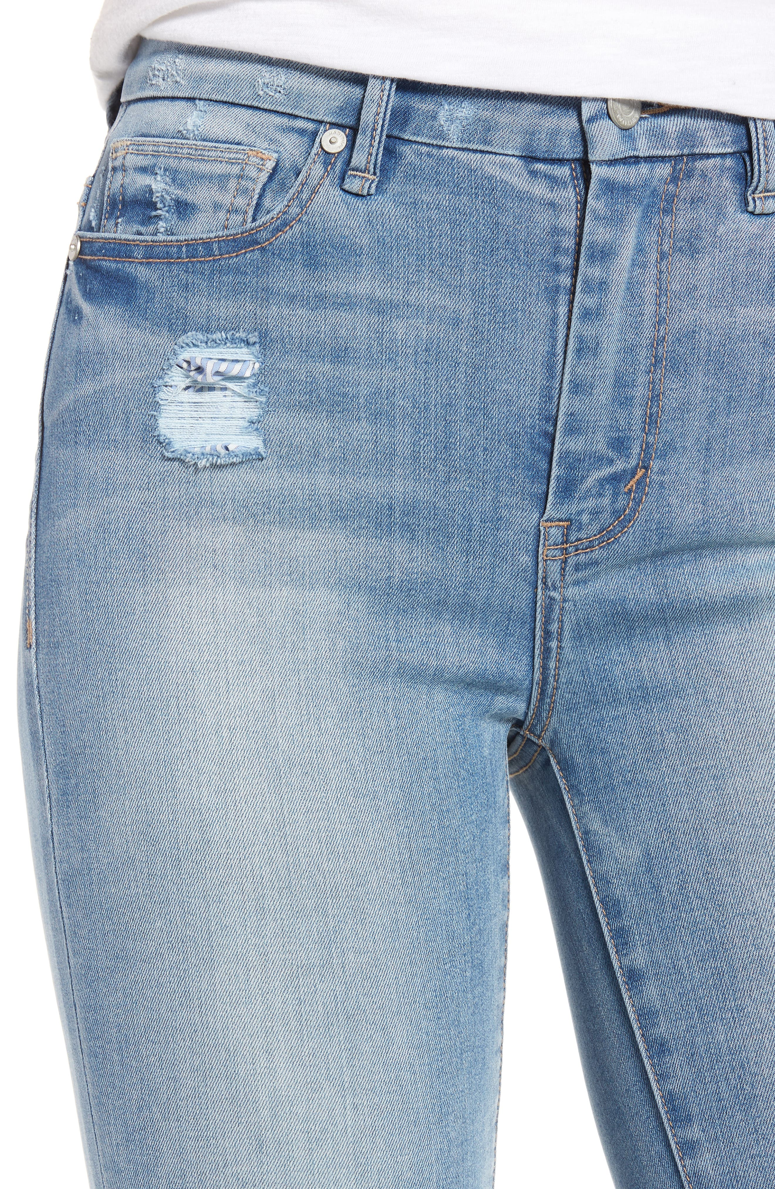 Cressa High Rise Ankle Skinny Jeans,                             Alternate thumbnail 4, color,                             Varnish