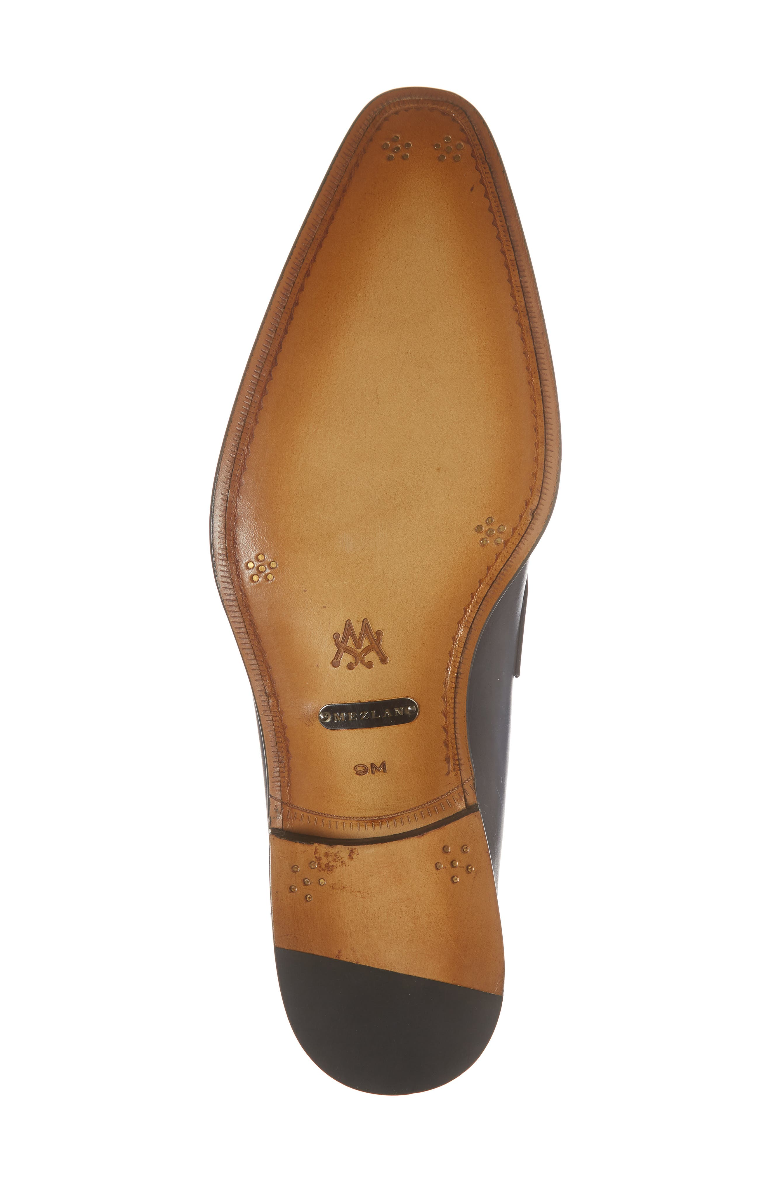 Marcus Penny Loafer,                             Alternate thumbnail 6, color,                             Mid Blue Leather
