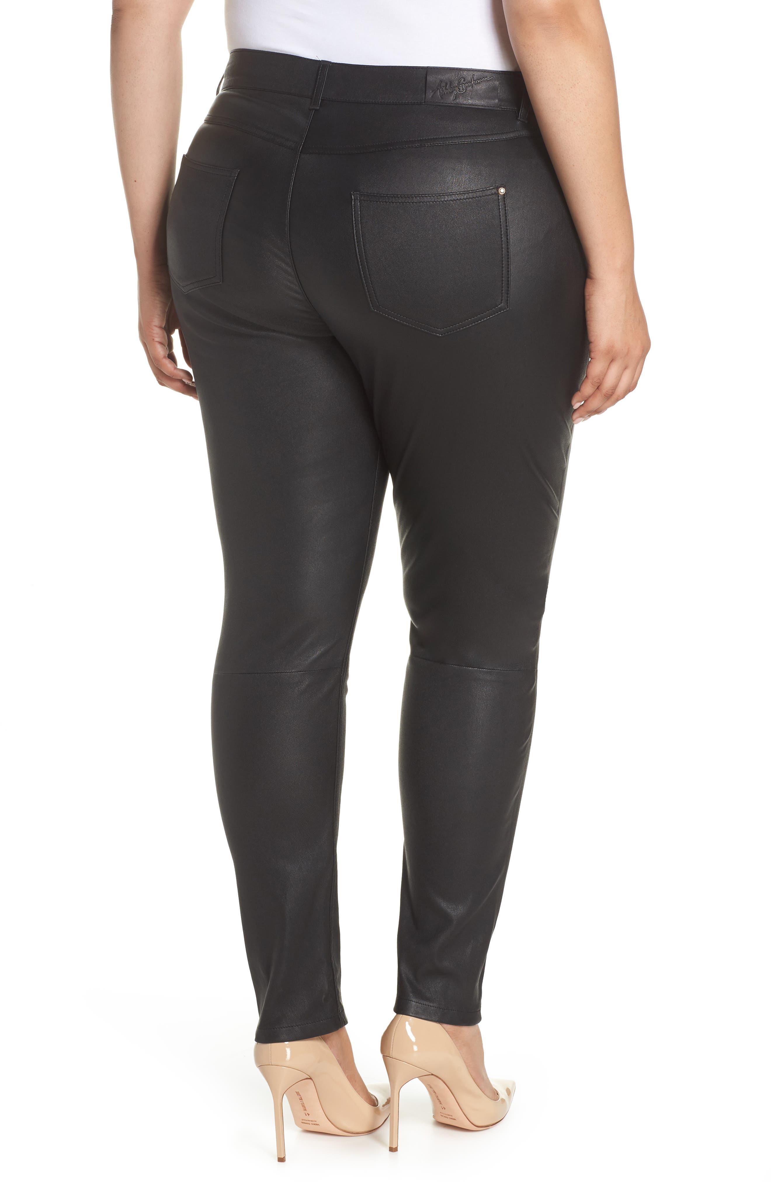 Eboli Leather Pants,                             Alternate thumbnail 2, color,                             Black