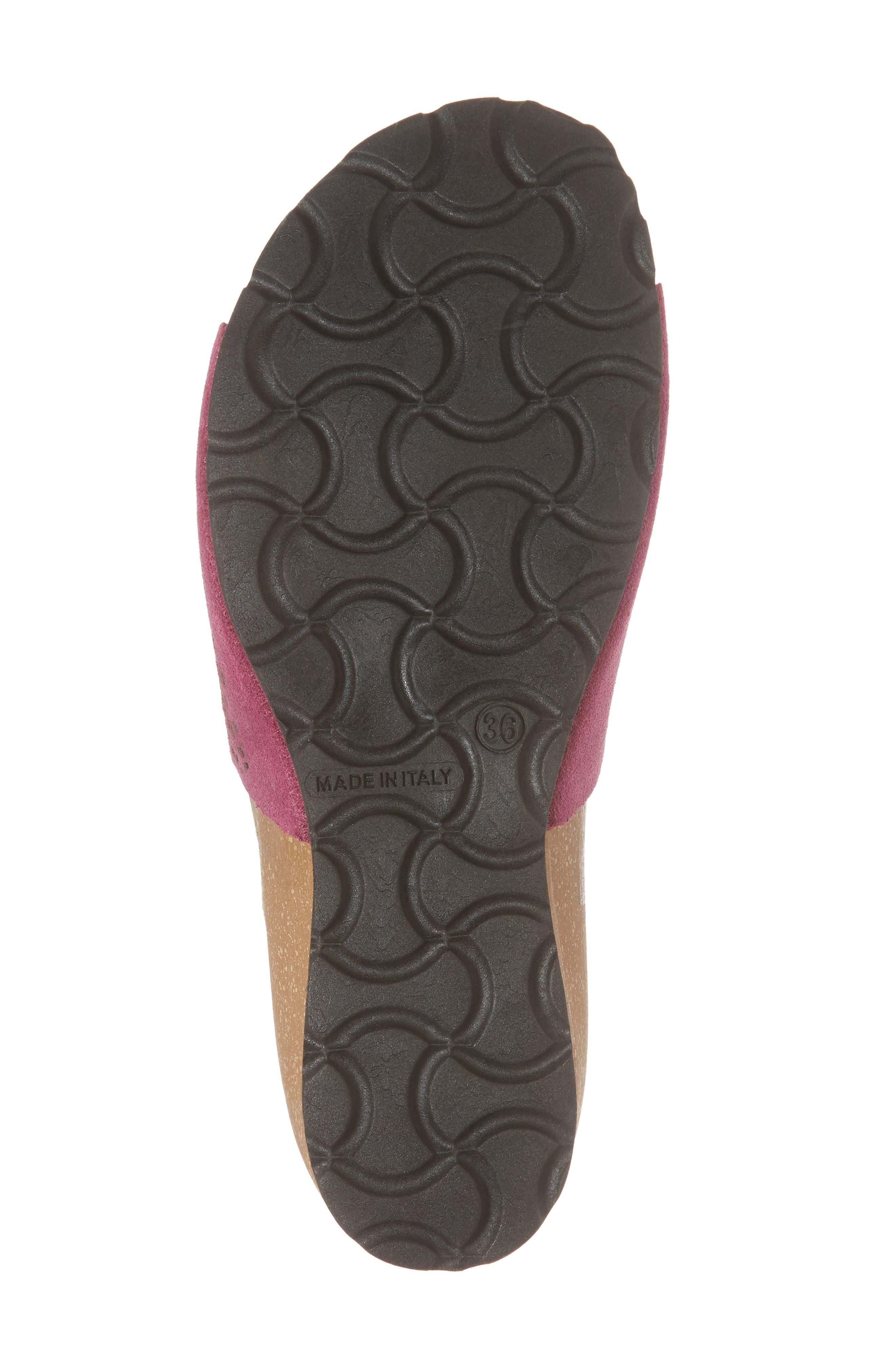 Loa Wedge Slide Sandal,                             Alternate thumbnail 6, color,                             Fuchsia Suede