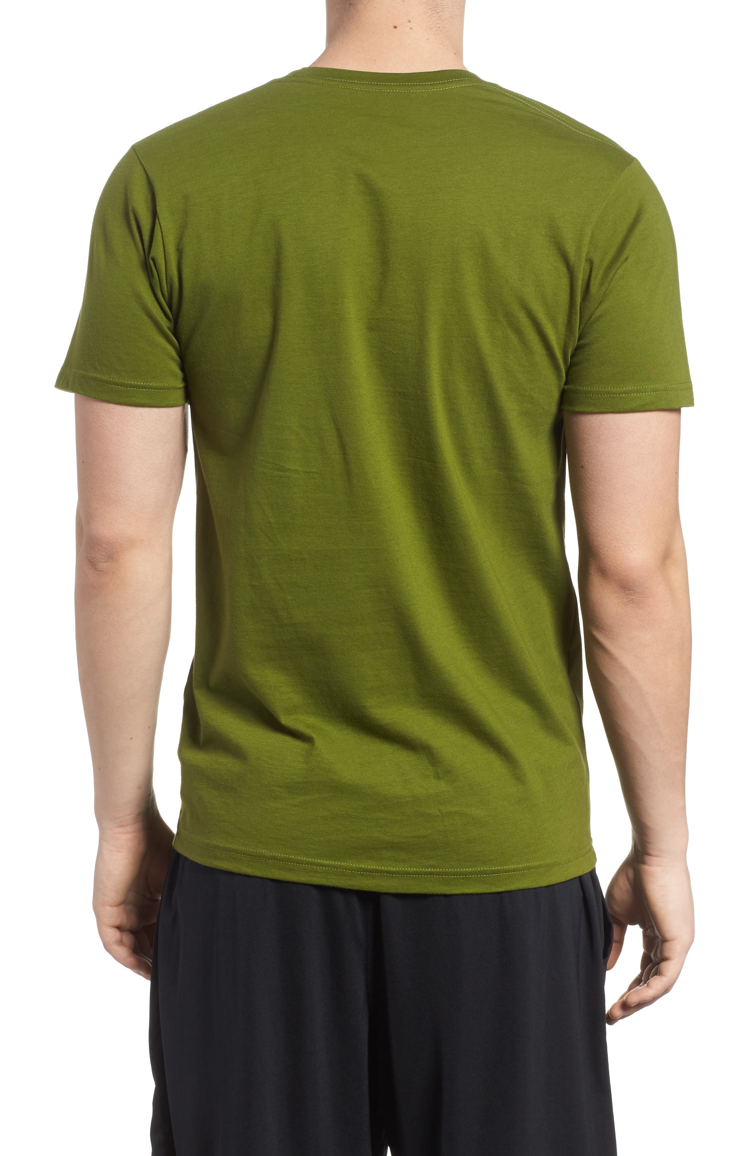 Oily Olas Slim Fit Organic Cotton T-Shirt,                             Alternate thumbnail 2, color,                             Sprouted Green