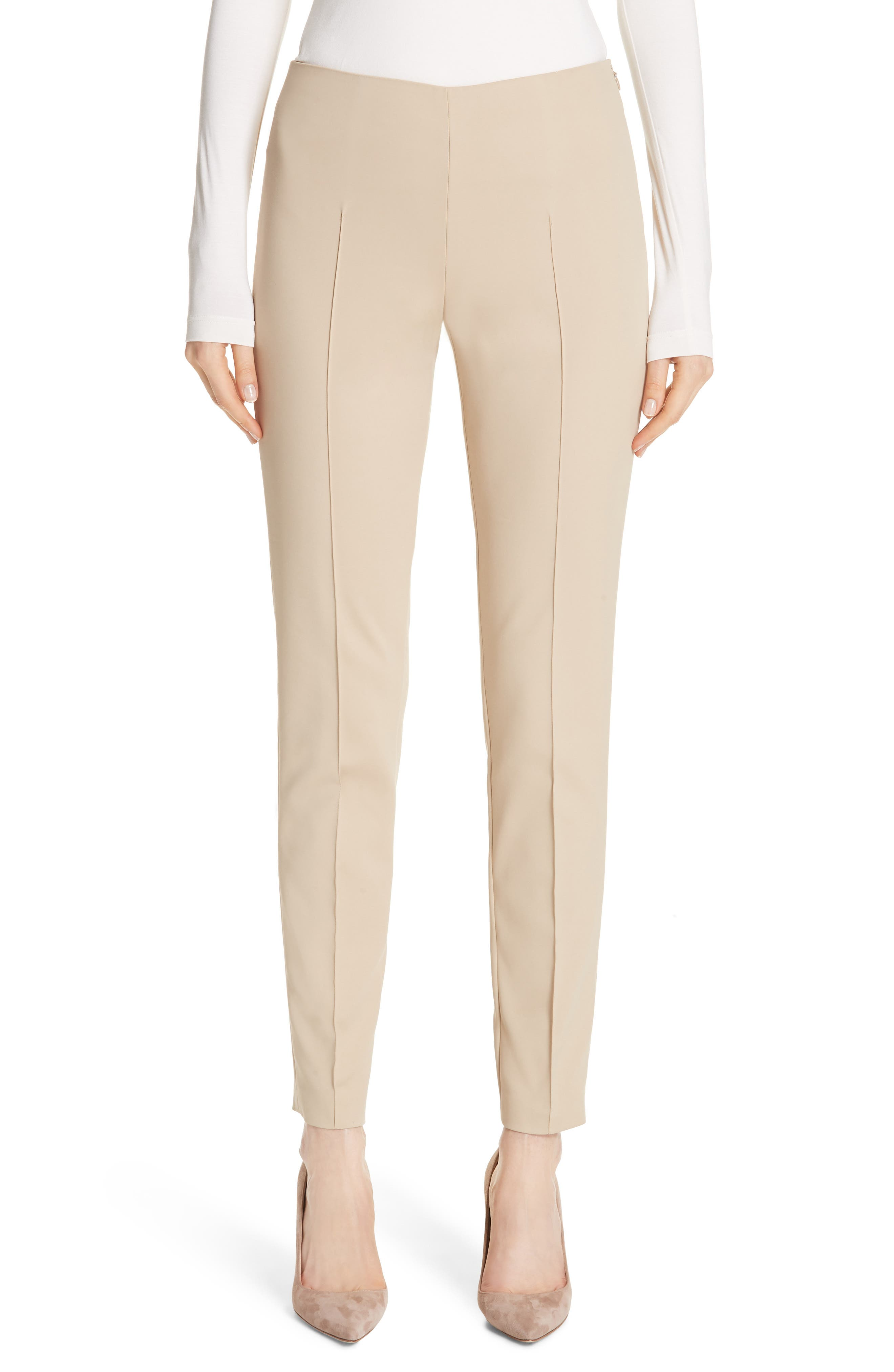 Akris 'Melissa' Slim Techno Cotton Ankle Pants