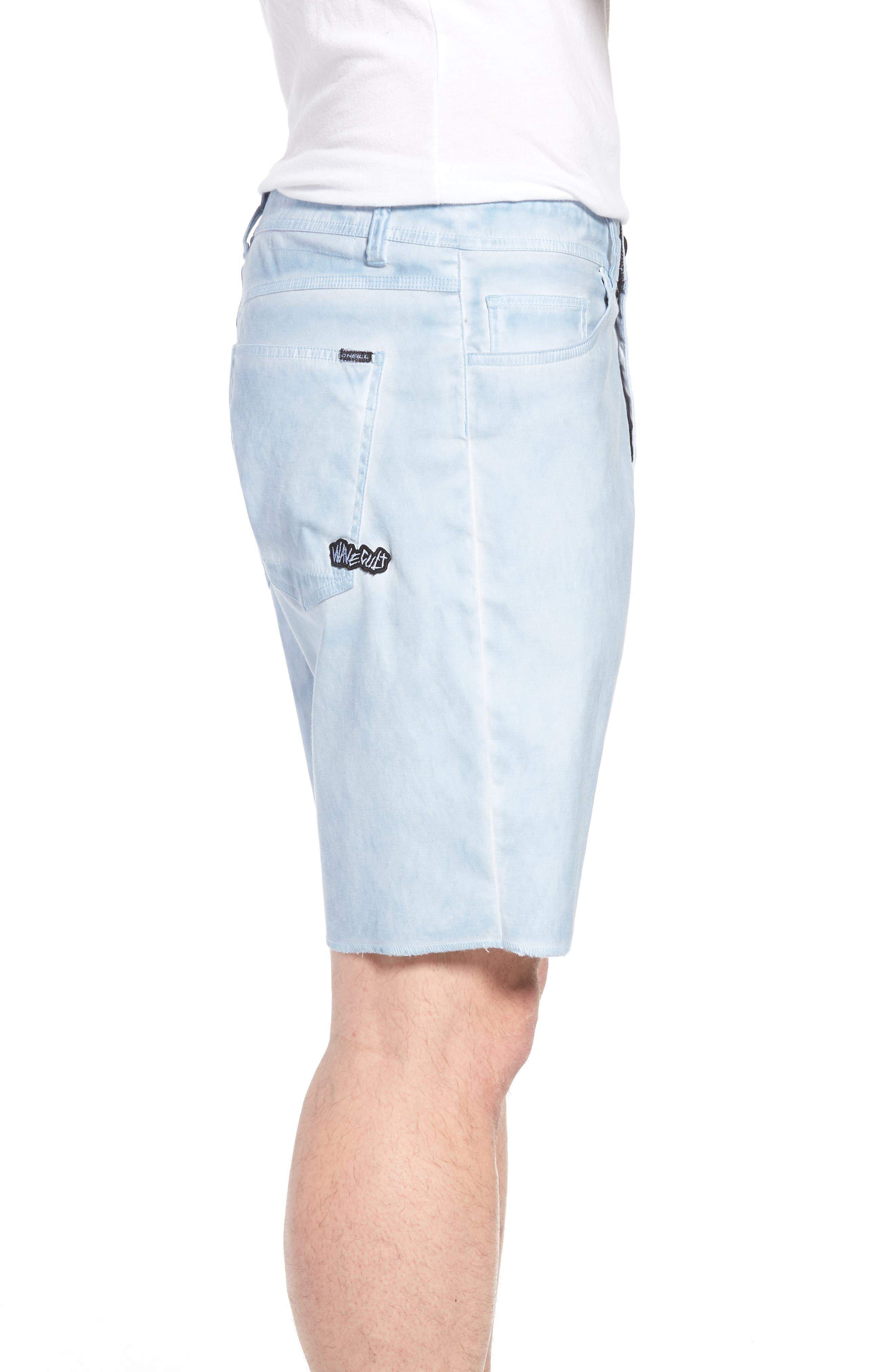 Kick Back Hybrid Shorts,                             Alternate thumbnail 3, color,                             Light Indigo