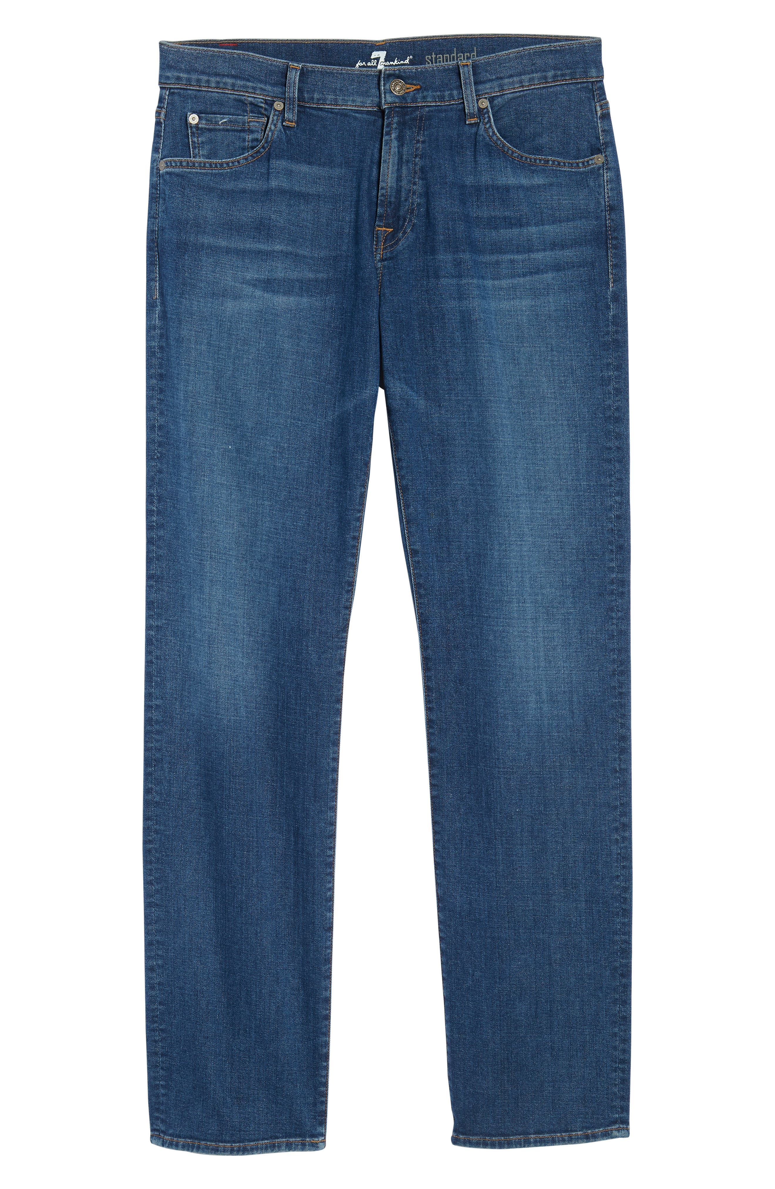 Standard Straight Leg Jeans,                             Alternate thumbnail 6, color,                             Oasis