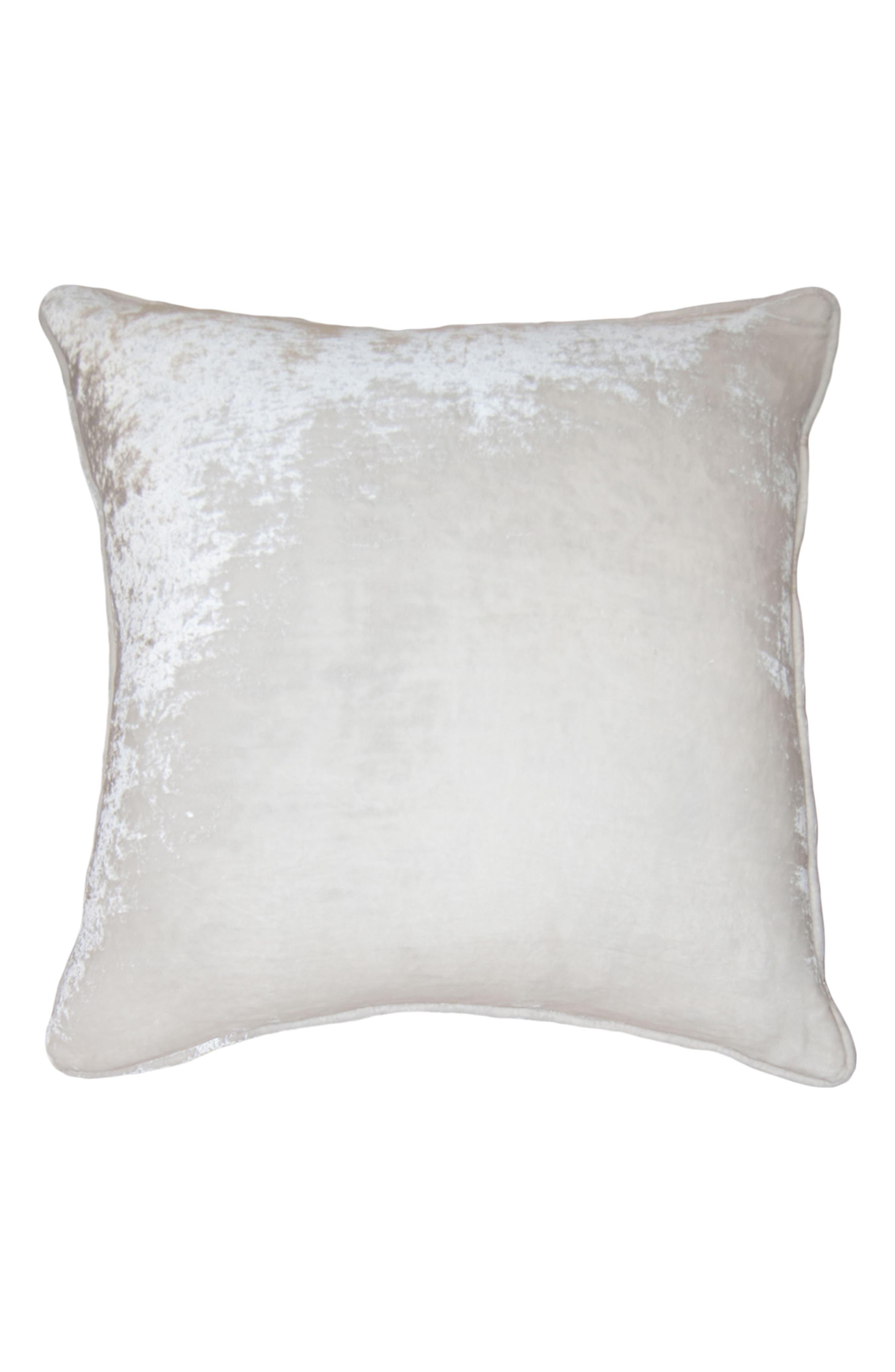 Square Feathers Velvet Accent Pillow