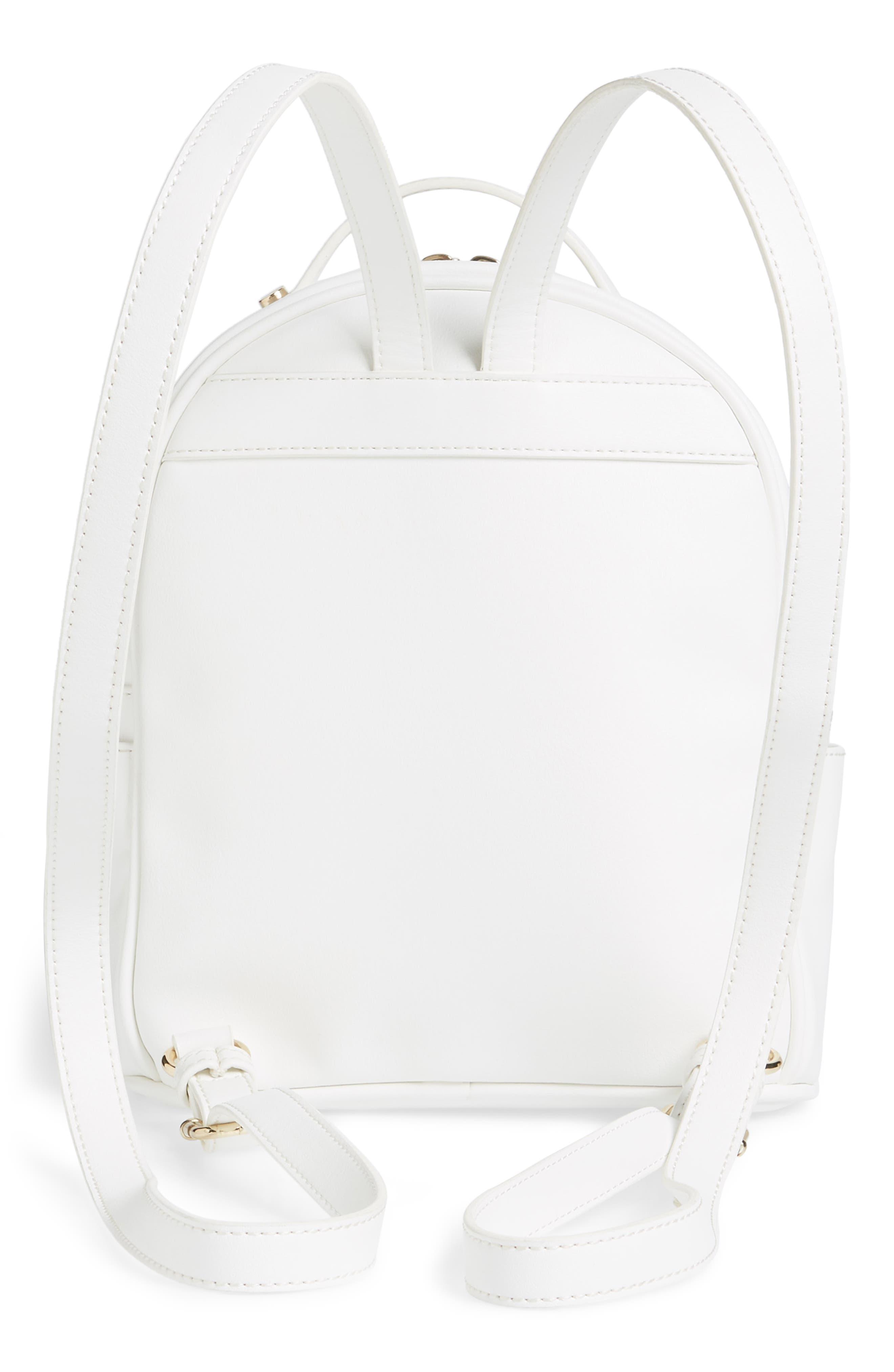 Mali + Lili Harper Lili Basket Weave Backpack,                             Alternate thumbnail 3, color,                             White