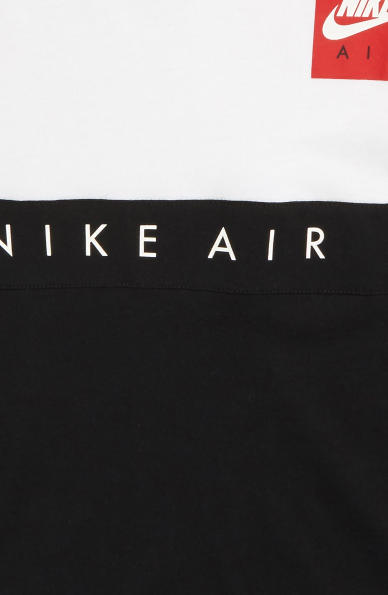 Air Shirt,                             Alternate thumbnail 2, color,                             White/ Black