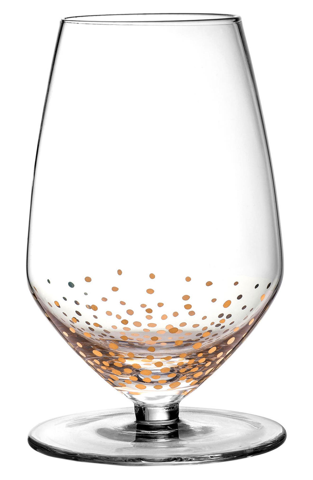 Gold Luster Set of 4 Wine Glasses,                         Main,                         color, Gold