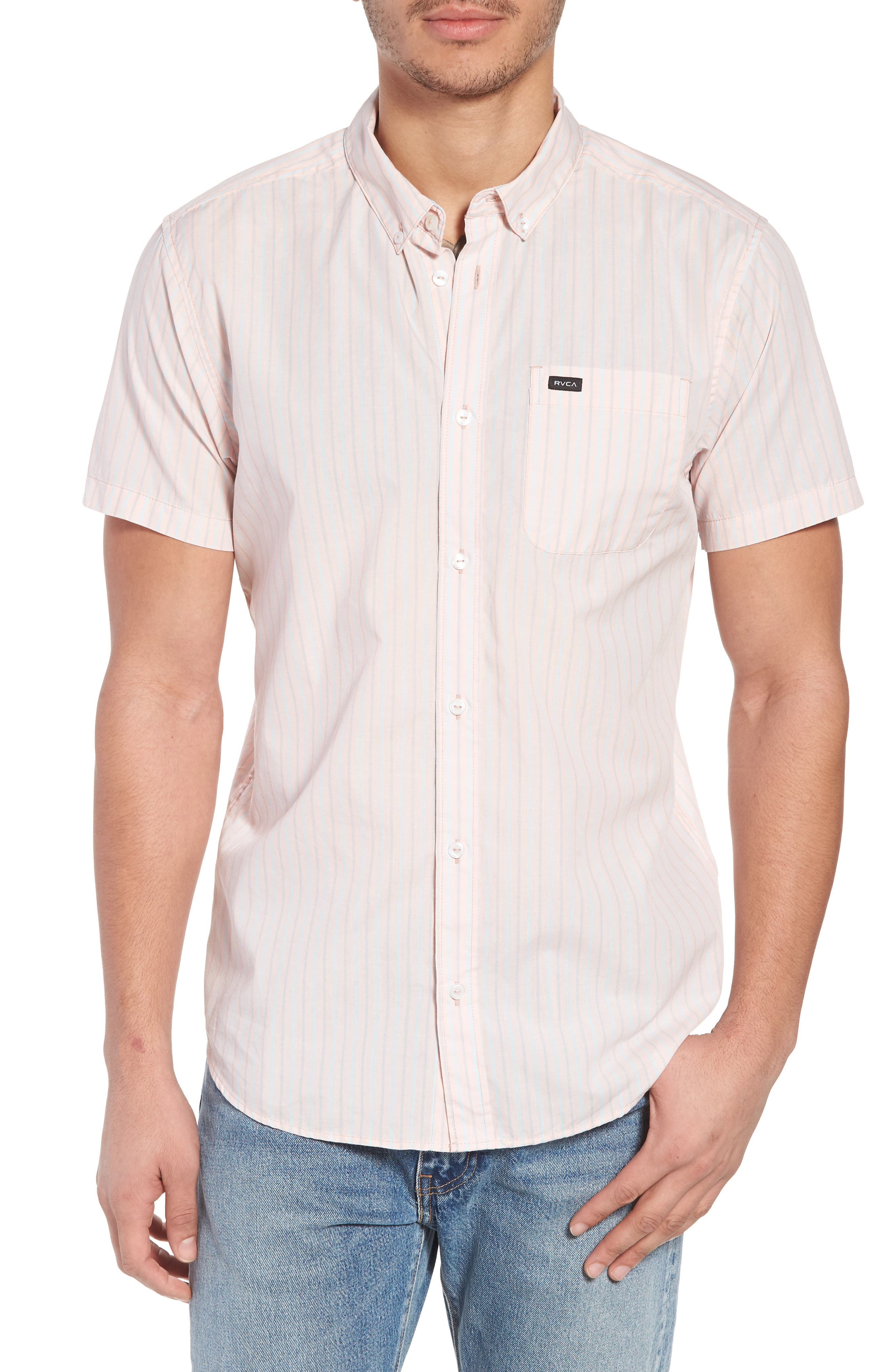 Everyday Stripe Shirt,                         Main,                         color, Washed Pink