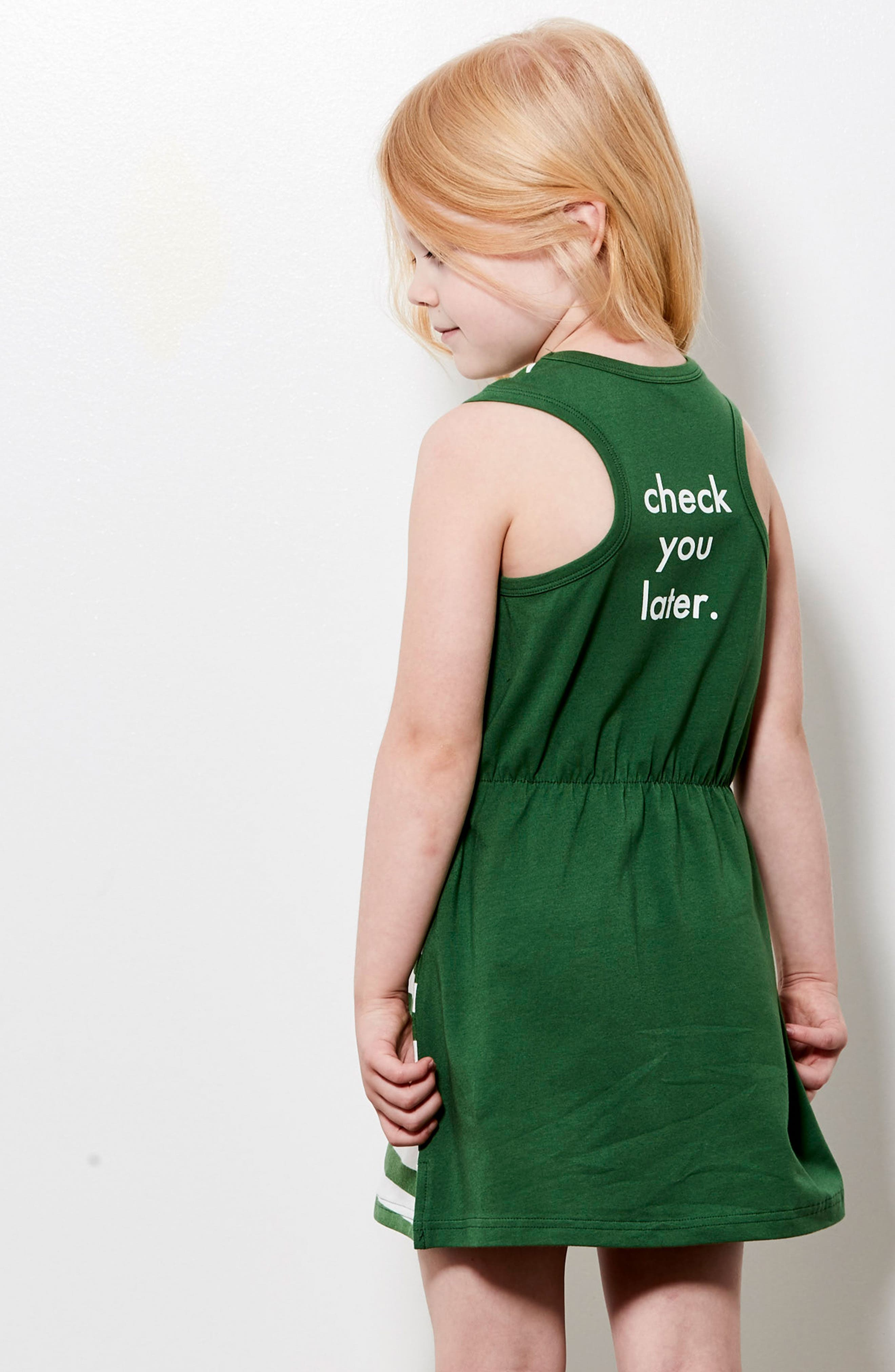Check You Later Racerback Dress,                             Alternate thumbnail 5, color,                             Green