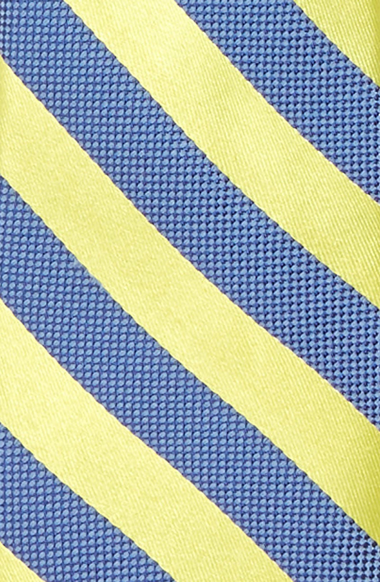 Stripe Silk Zip Tie,                             Alternate thumbnail 2, color,                             Bright Yellow