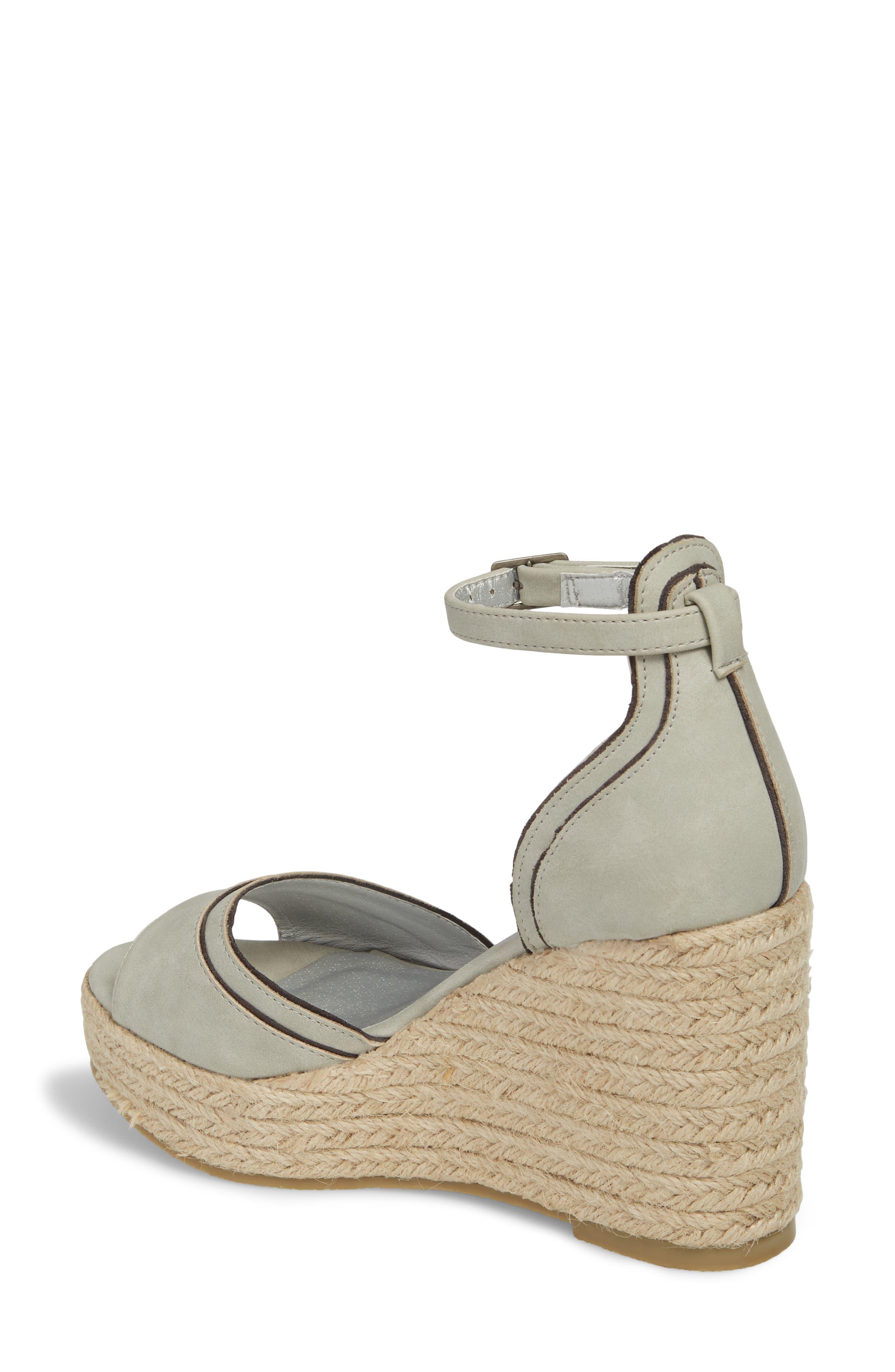 Bon Voyage Espadrille Wedge Sandal,                             Alternate thumbnail 2, color,                             Grey Fabric
