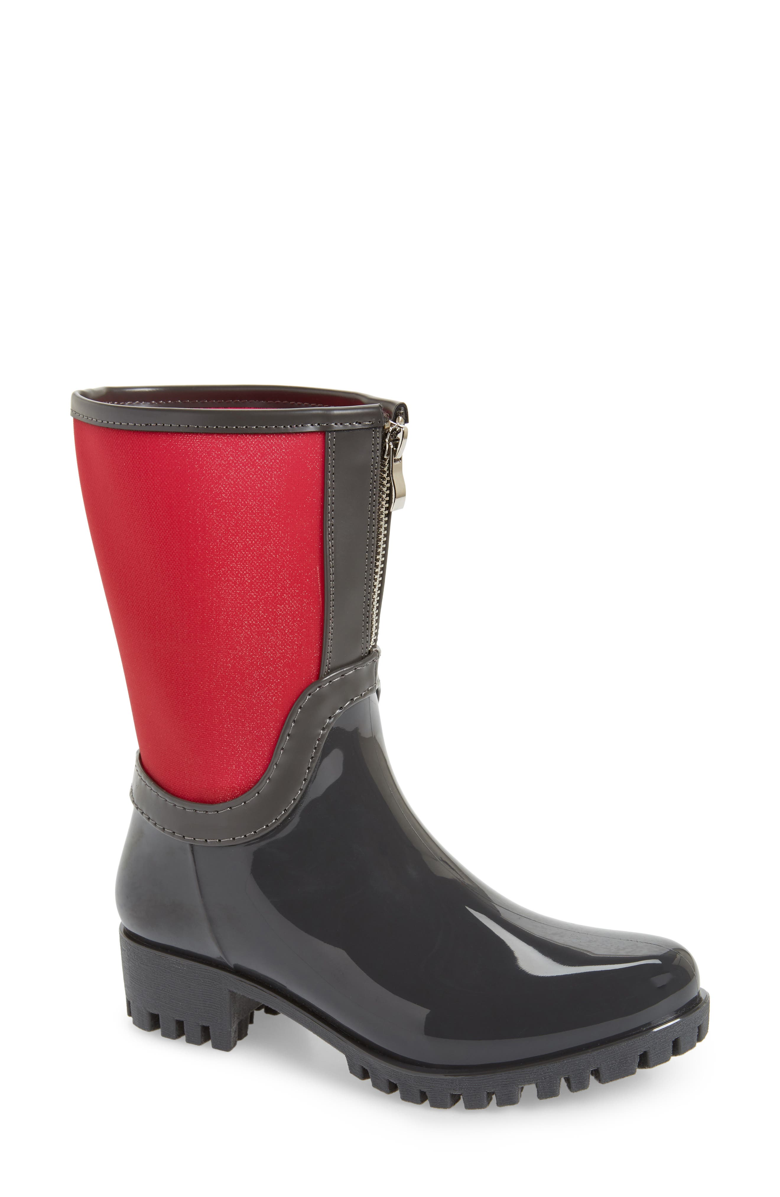 Dryden Sheer Waterproof Boot,                             Main thumbnail 1, color,                             Berry Fabric